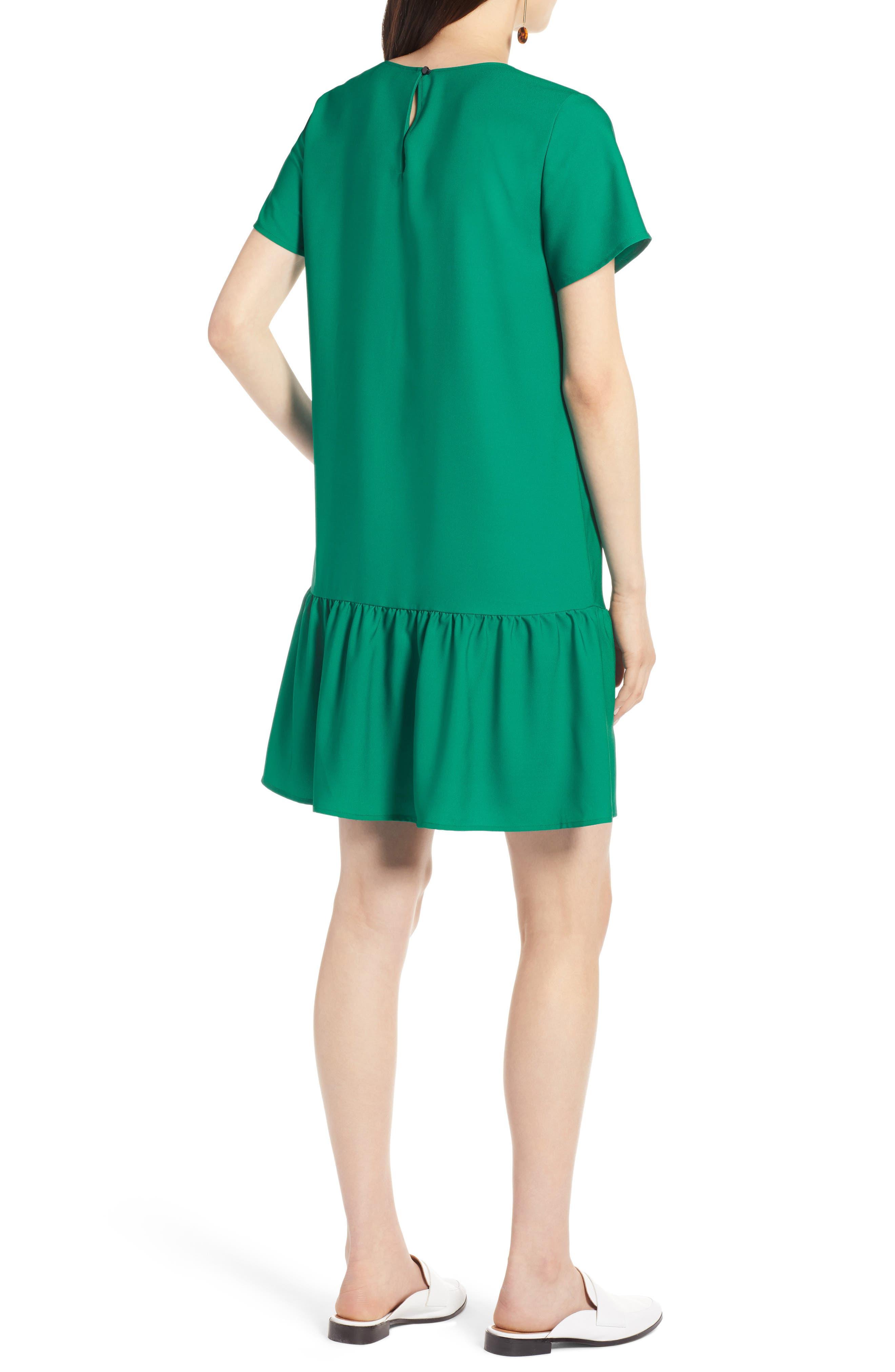 Short Sleeve Ruffle Hem Dress,                             Alternate thumbnail 10, color,
