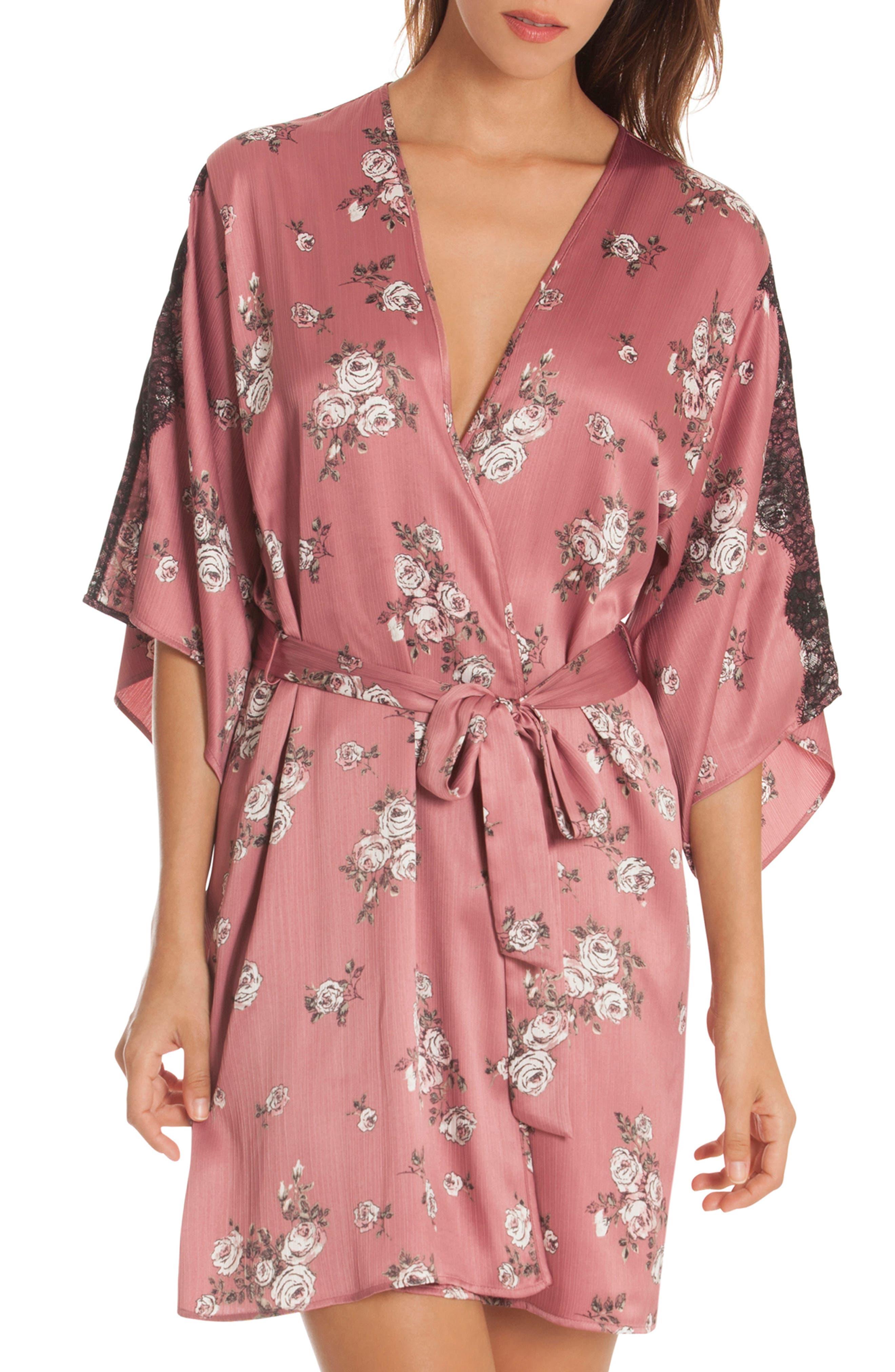 Tegan Kimono Wrap,                         Main,                         color, ROSE