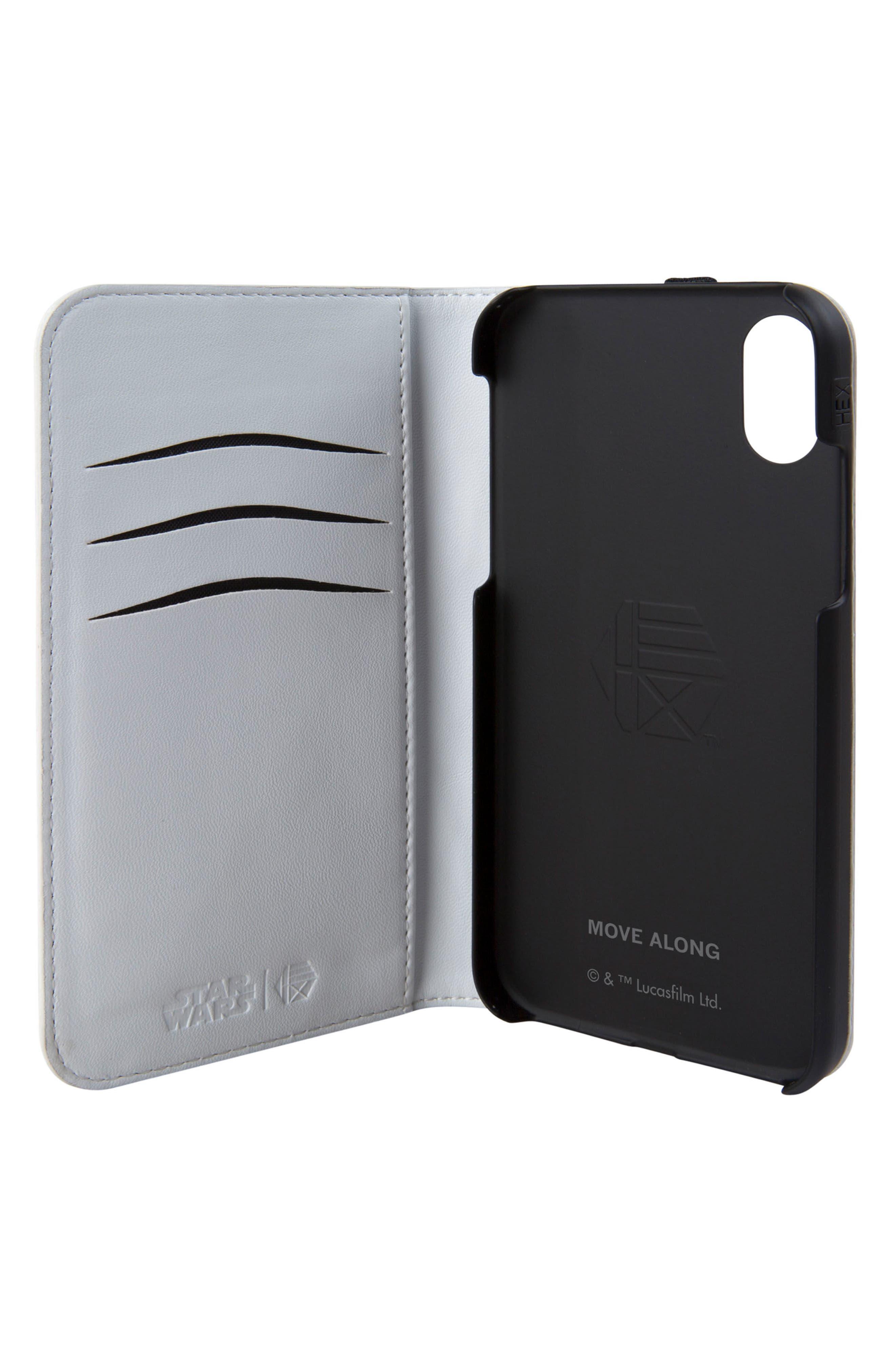 Stormtrooper iPhone X Wallet Case,                             Alternate thumbnail 2, color,                             158