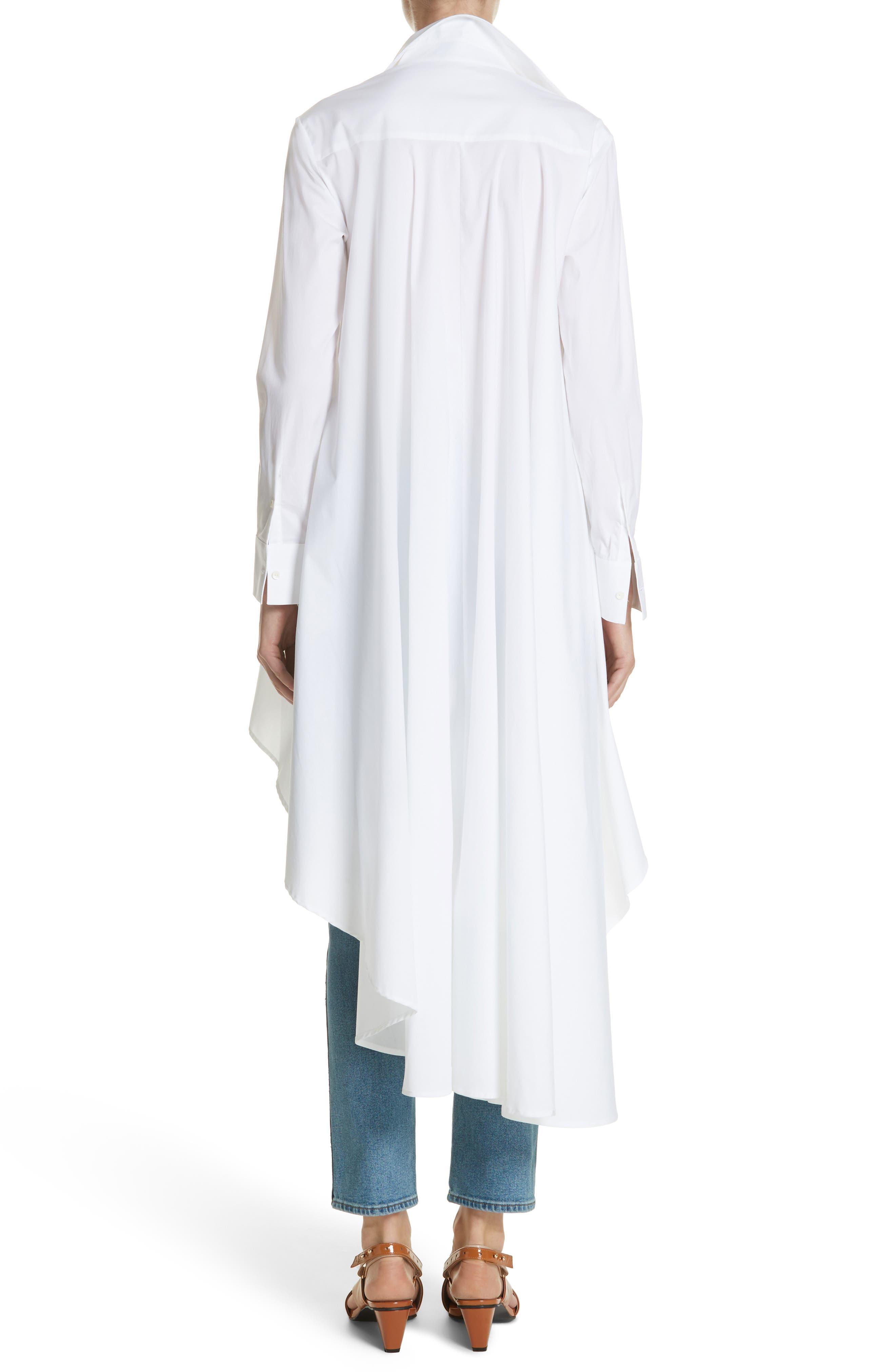 Long Super Shirt,                             Alternate thumbnail 2, color,                             WHITE