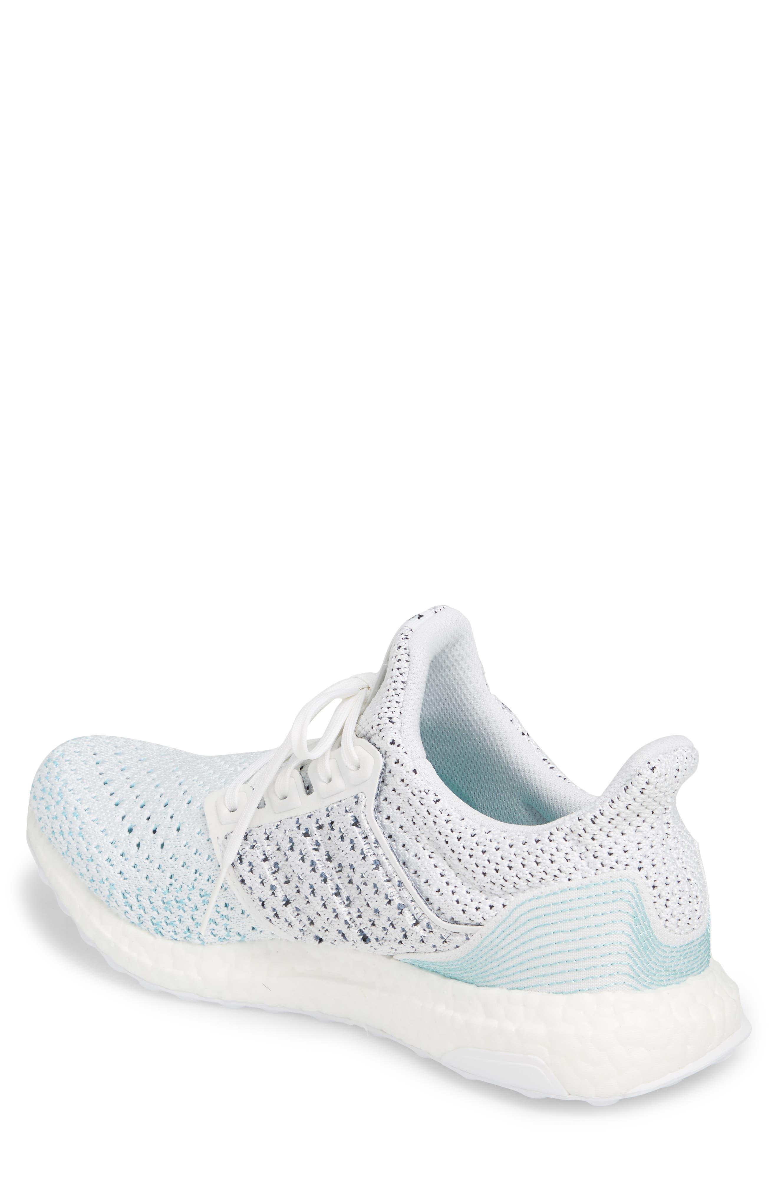 Parley UltraBoost Sneaker,                             Alternate thumbnail 2, color,                             WHITE/ BLUE SPIRIT