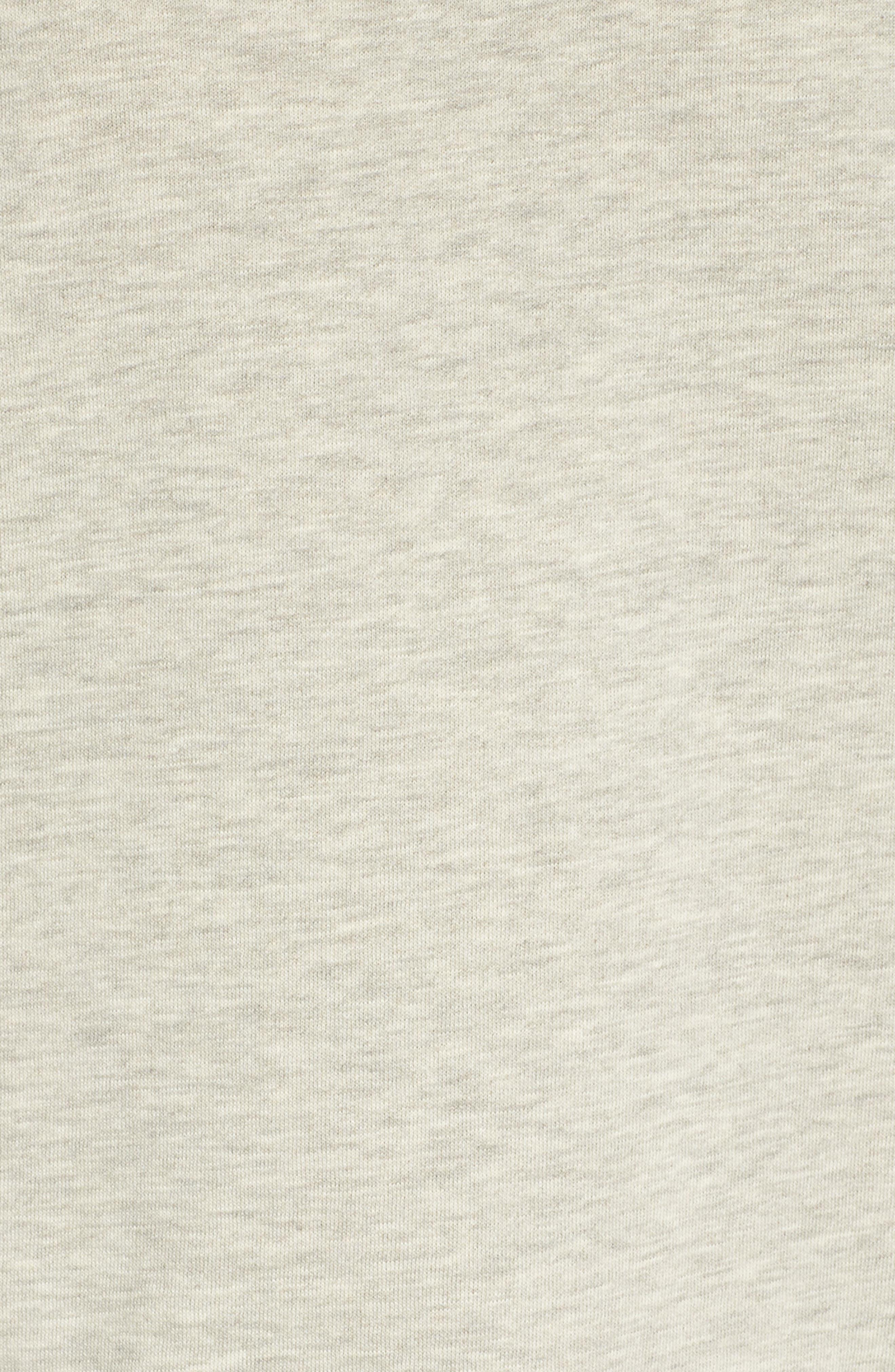 Sweatshirt,                             Alternate thumbnail 5, color,                             PEBBLE HEATHER / MAUVE