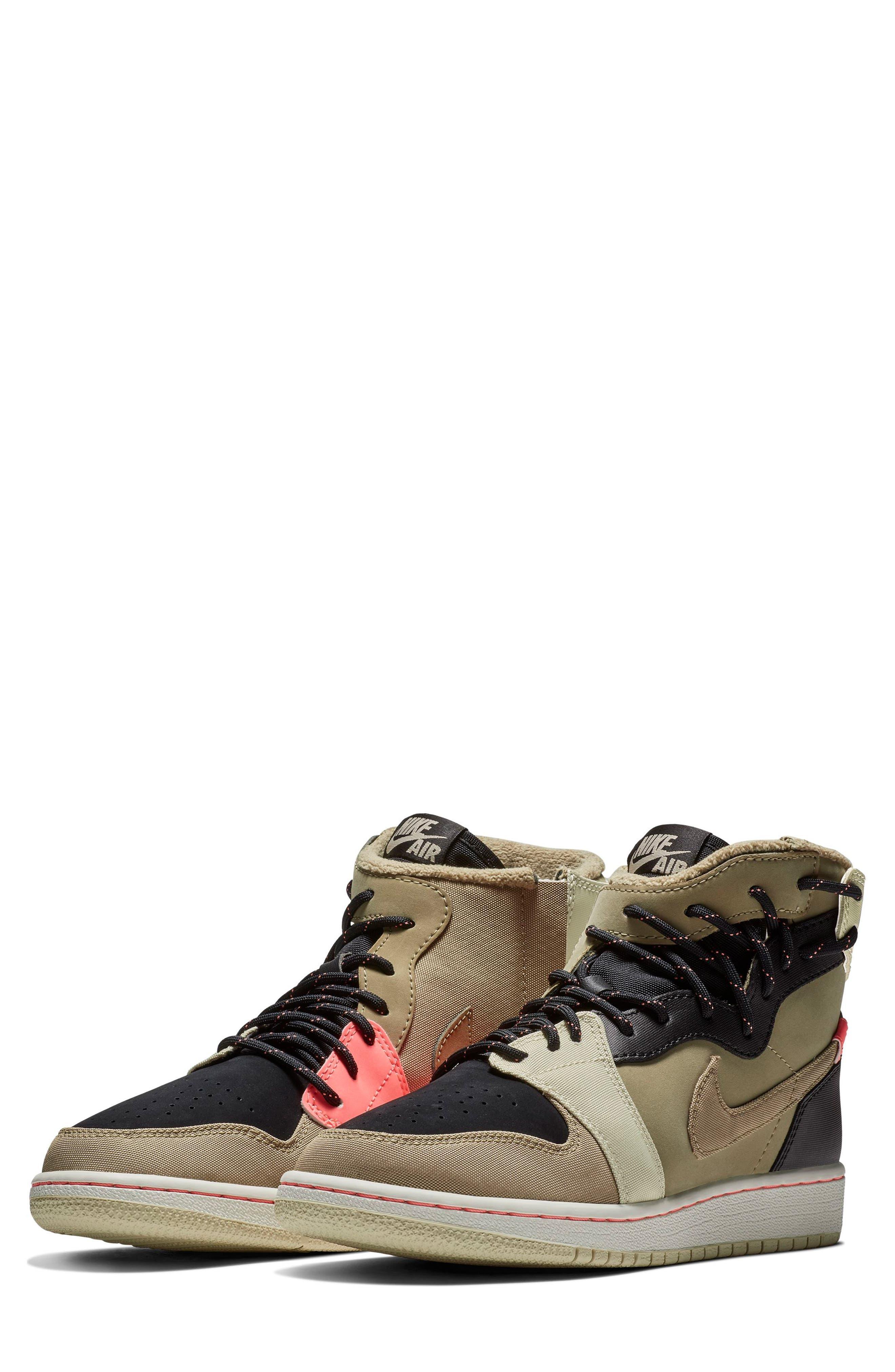 Air Jordan 1 Rebel XX Utility High Top Sneaker,                             Main thumbnail 1, color,                             PARACHUTE BEIGE