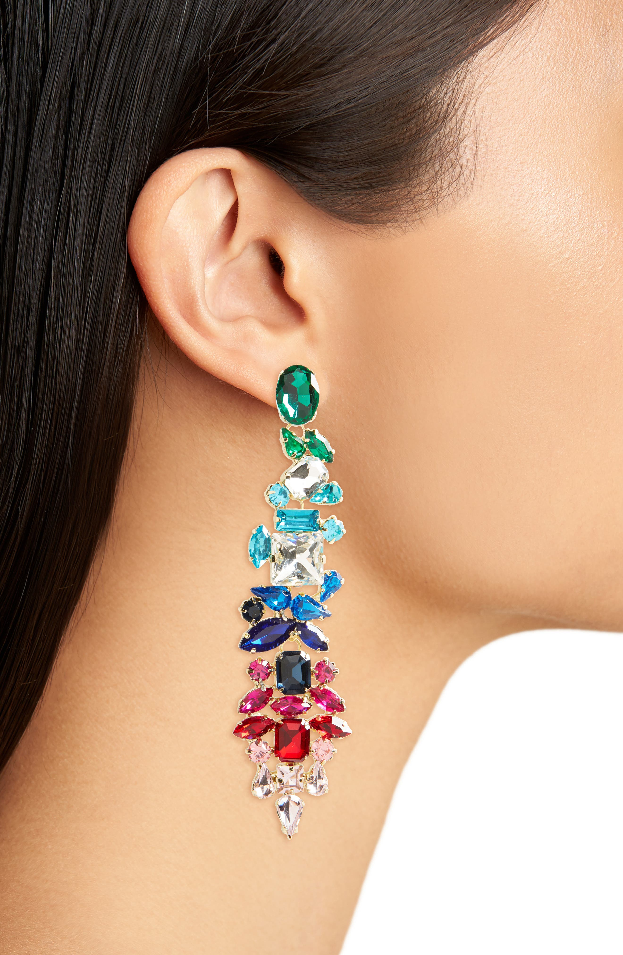 Dynasty Statement Earrings,                             Alternate thumbnail 2, color,