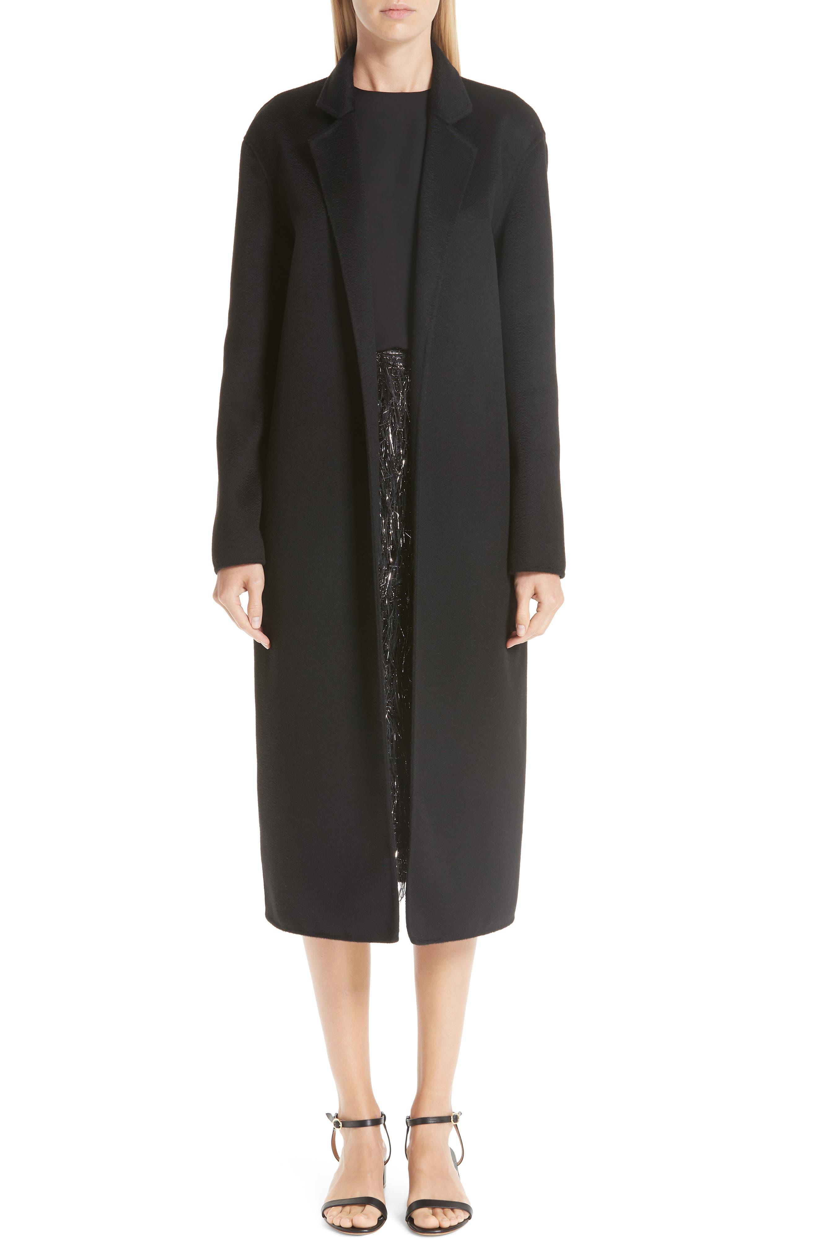 MANSUR GAVRIEL,                             Longline Cashmere Coat,                             Alternate thumbnail 7, color,                             001