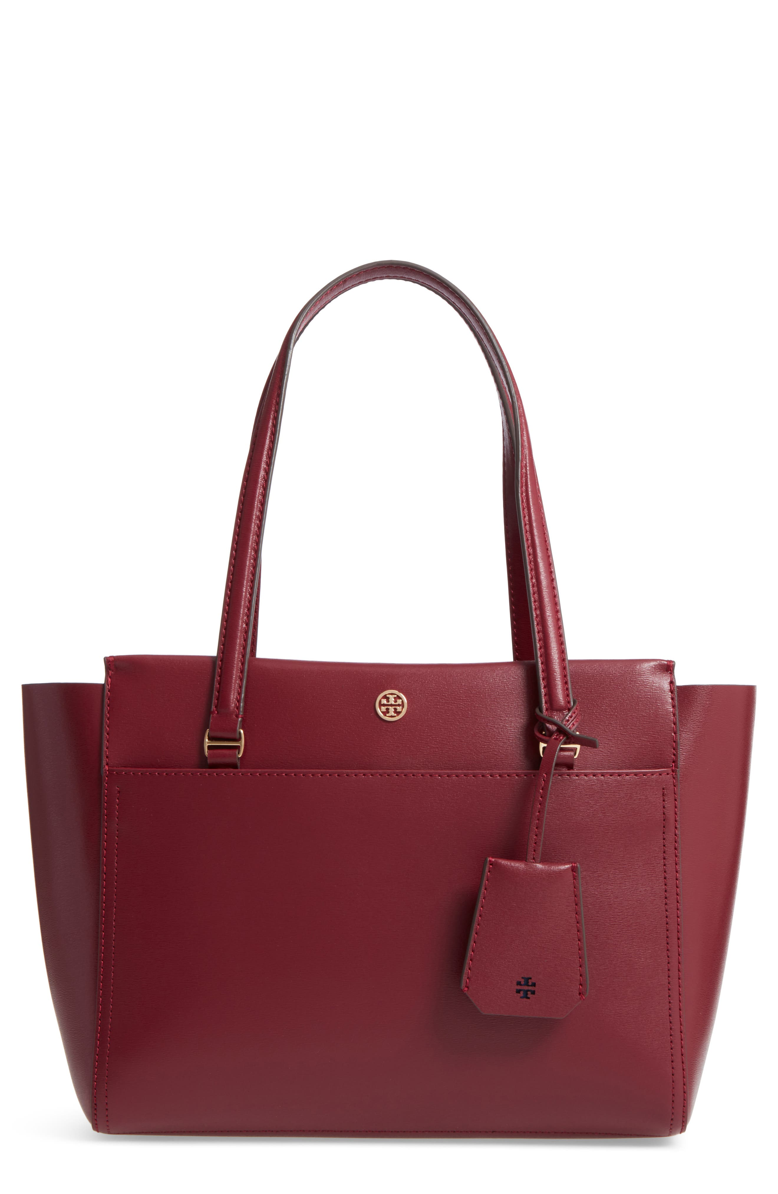 Small Parker Leather Tote,                             Main thumbnail 1, color,                             930