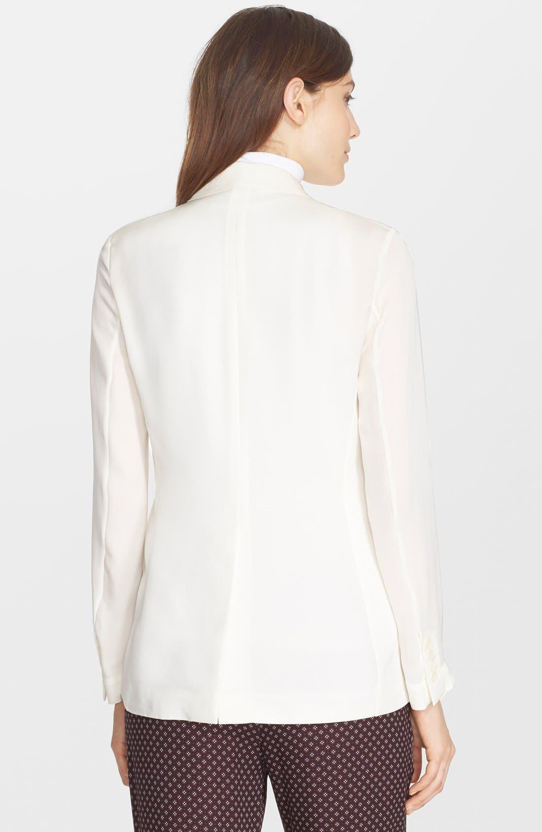 'Grinson CL' Single Button Silk Blazer,                             Alternate thumbnail 3, color,                             107