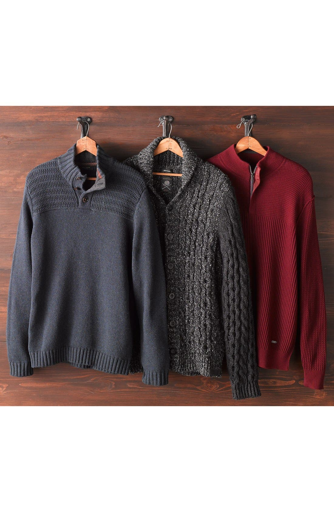 Donegal Italian Wool Blend Pullover,                             Alternate thumbnail 6, color,                             022