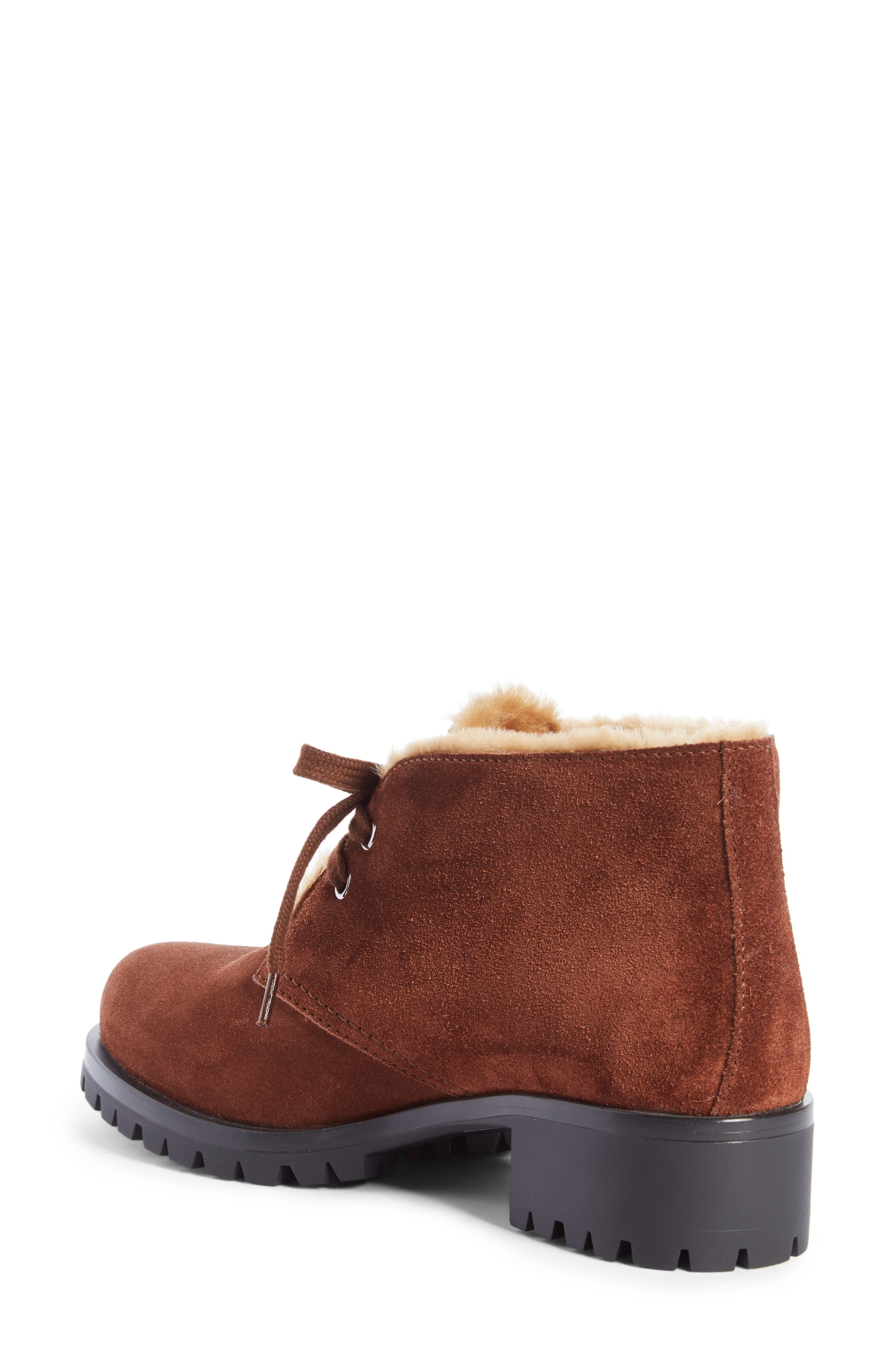 Genuine Shearling Lined Bootie,                             Alternate thumbnail 4, color,