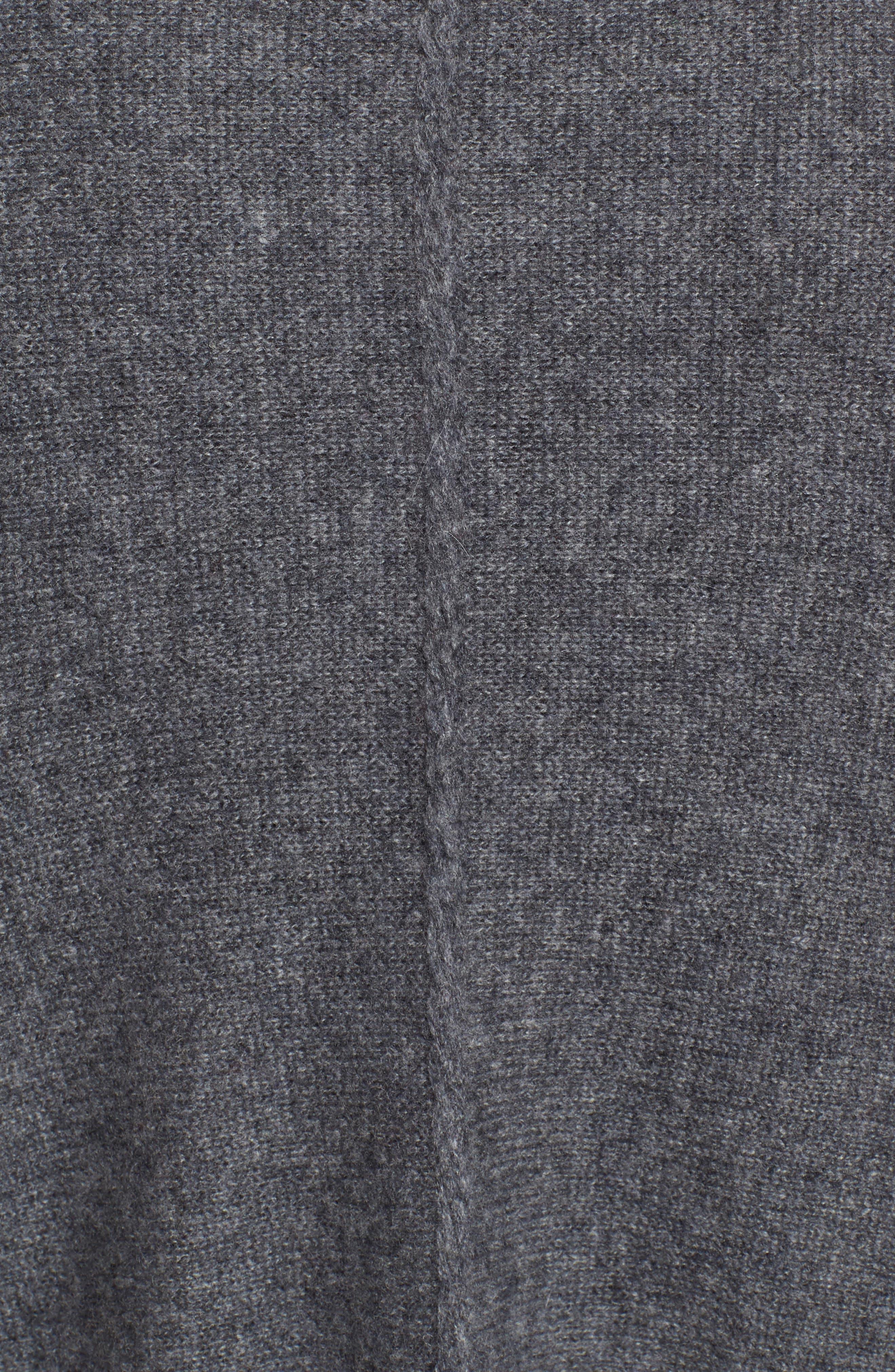 Cashmere Wrap,                             Alternate thumbnail 5, color,                             GREY DARK HEATHER