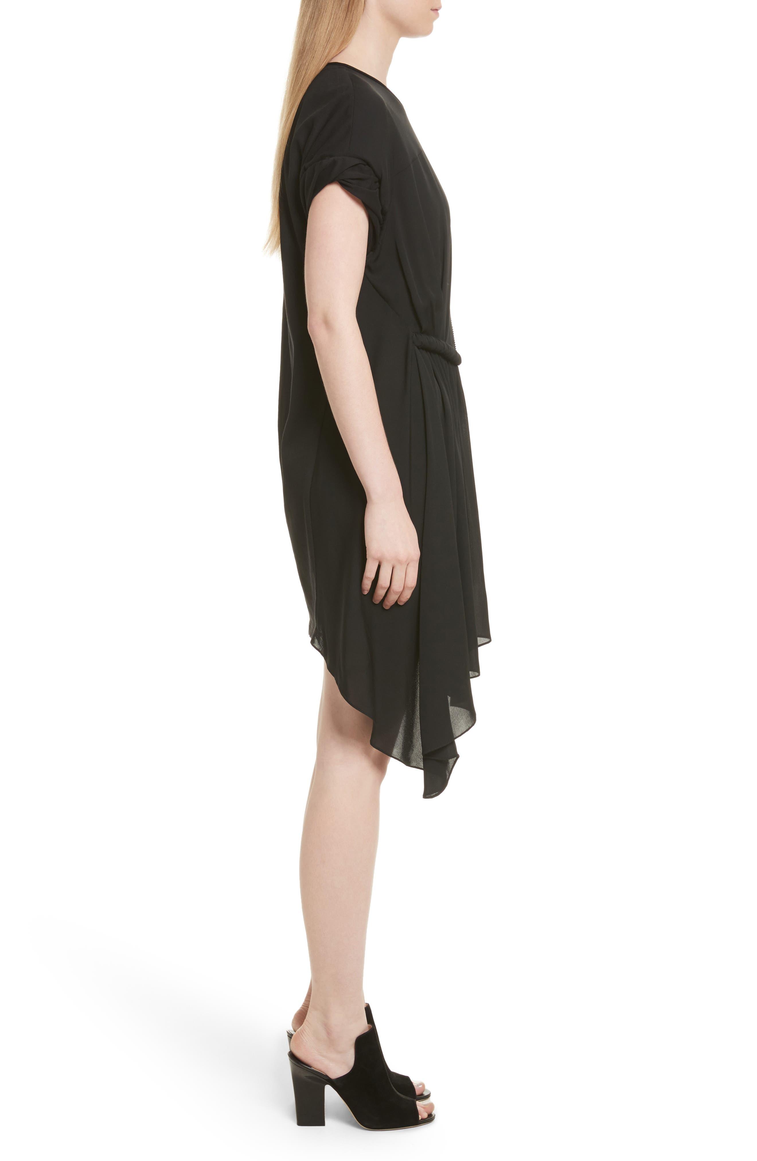 Gathered Waist Dress,                             Alternate thumbnail 3, color,                             001