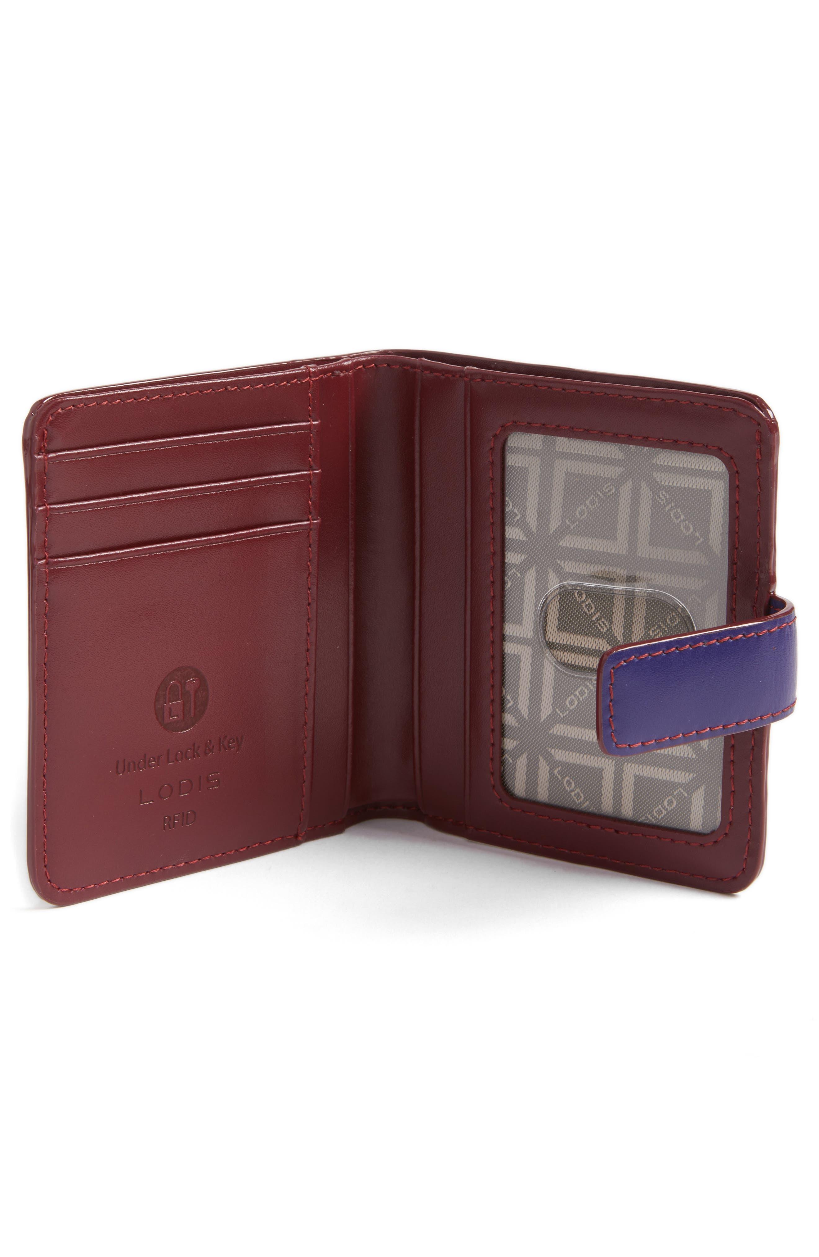 Lodis Petite Audrey RFID Leather Wallet,                             Alternate thumbnail 5, color,