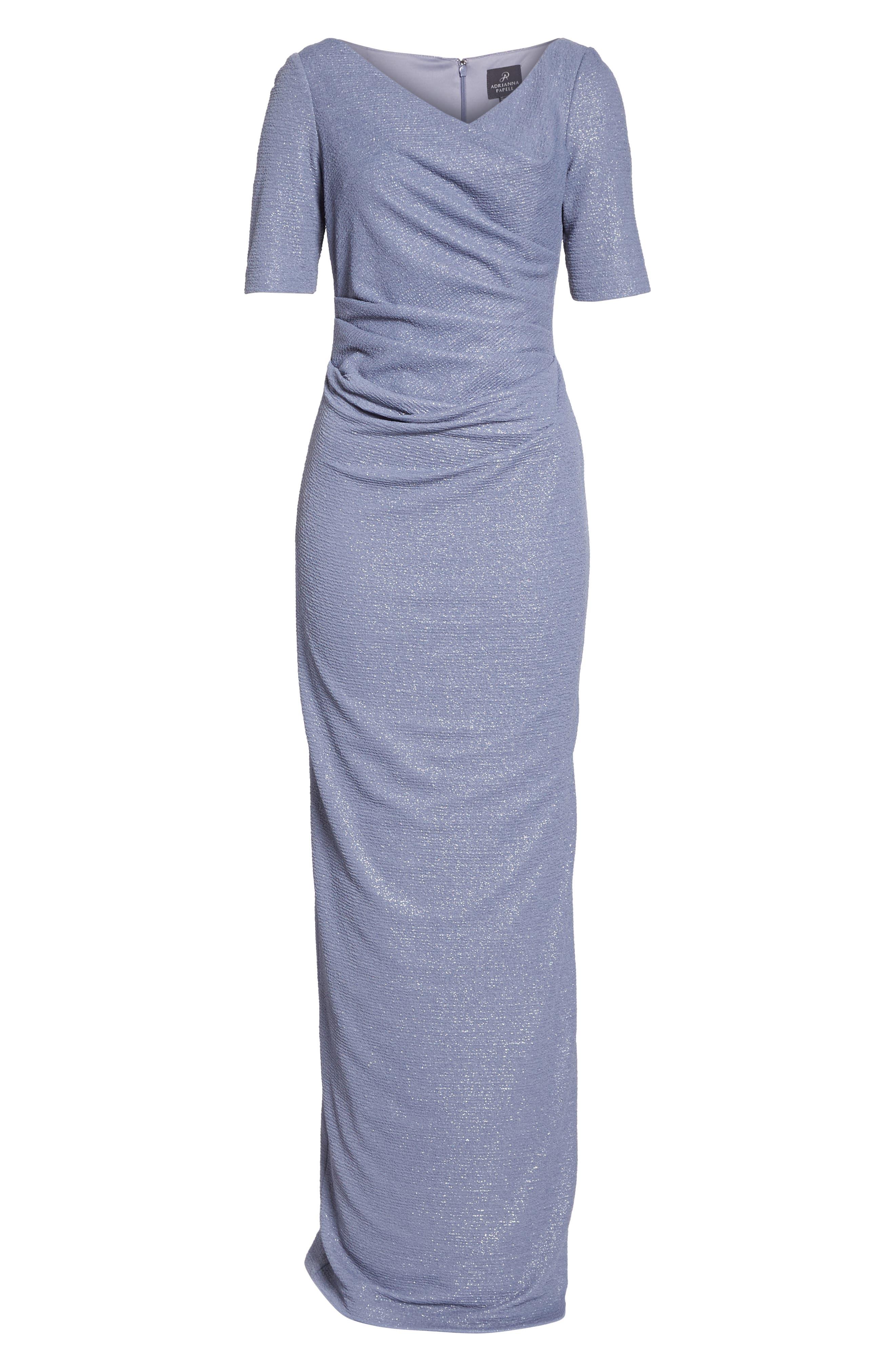 Metallic Gown,                             Alternate thumbnail 6, color,                             028
