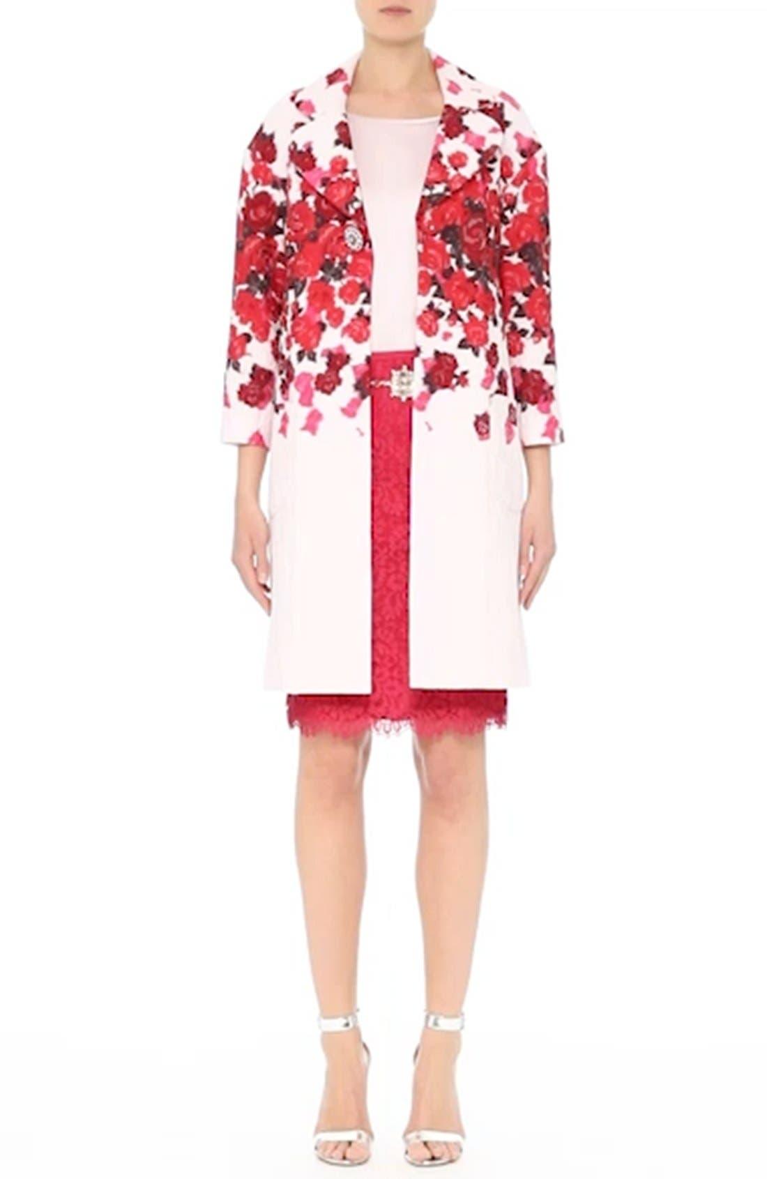 Double Scallop Paisley Lace Skirt,                             Alternate thumbnail 8, color,                             601