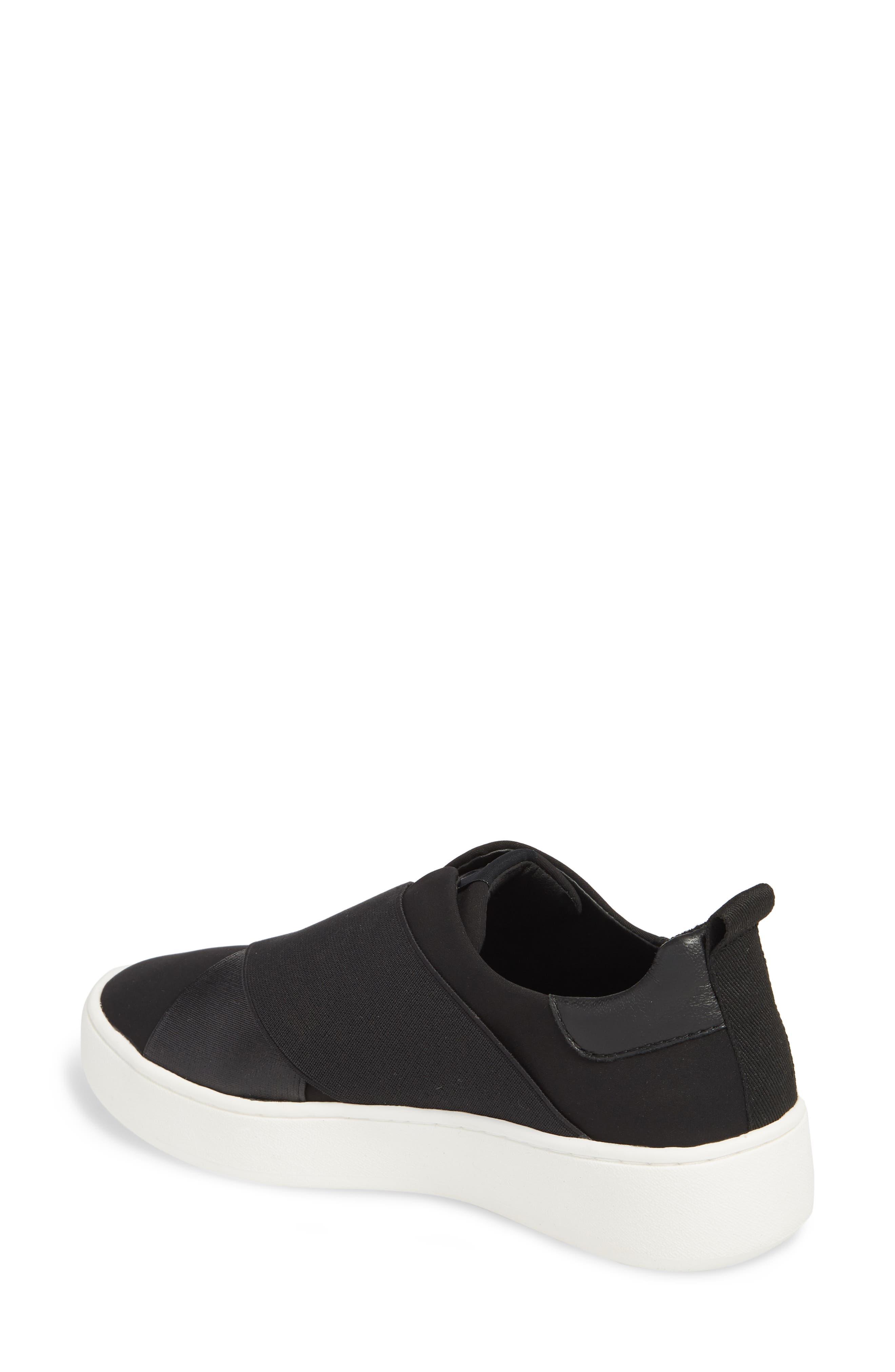 Coley Platform Slip-On Sneaker,                             Alternate thumbnail 2, color,                             BLACK LEATHER