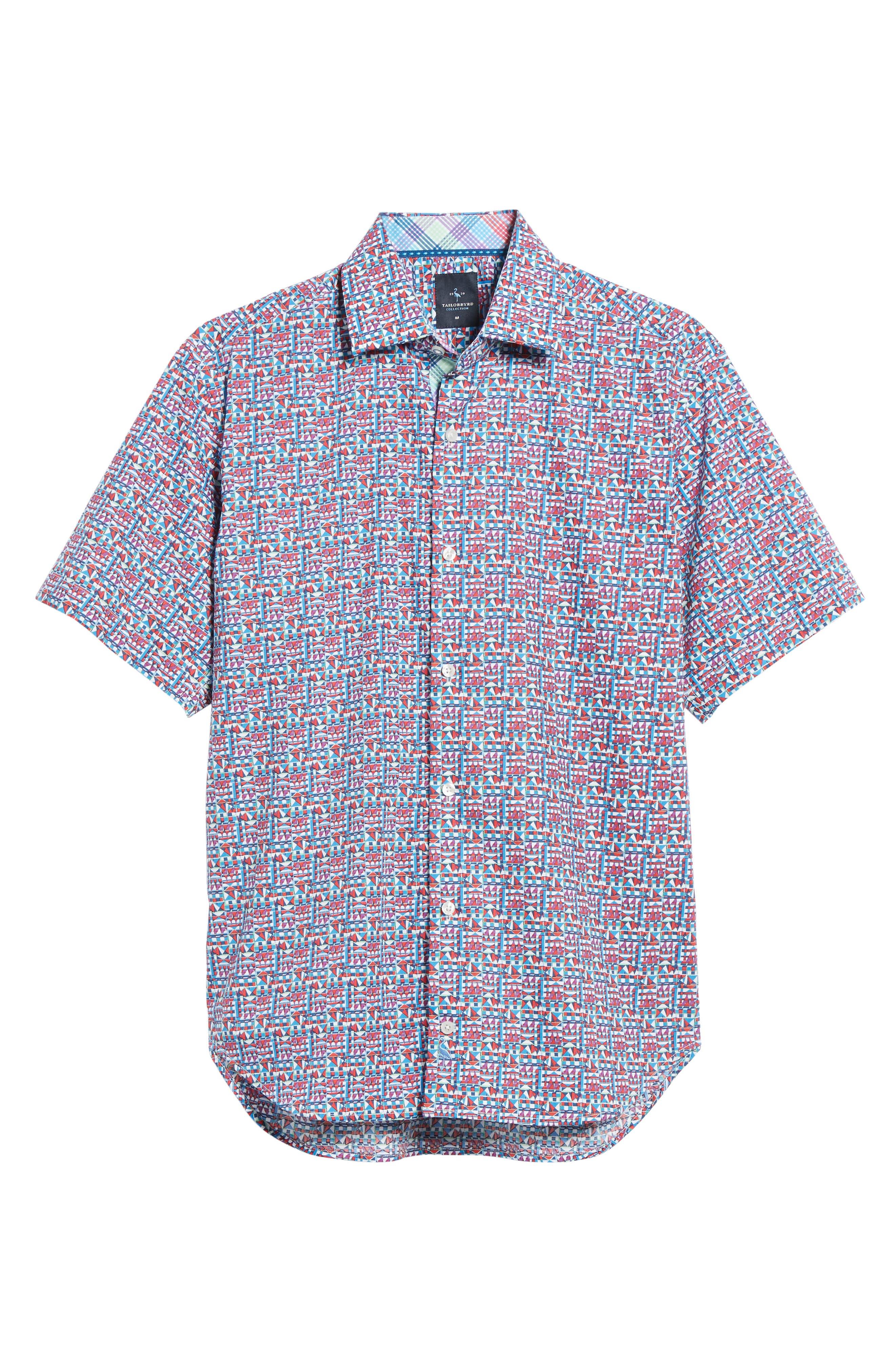 Maurice Print Sport Shirt,                             Alternate thumbnail 6, color,                             950