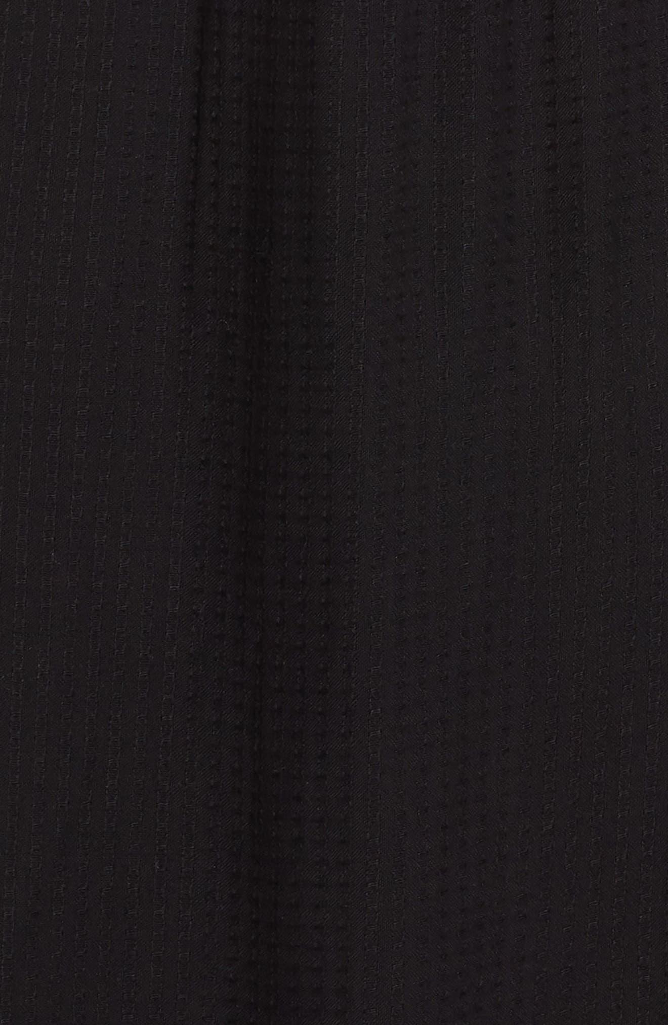 Cory Open Back Cover-Up Midi Dress,                             Alternate thumbnail 5, color,                             BLACK