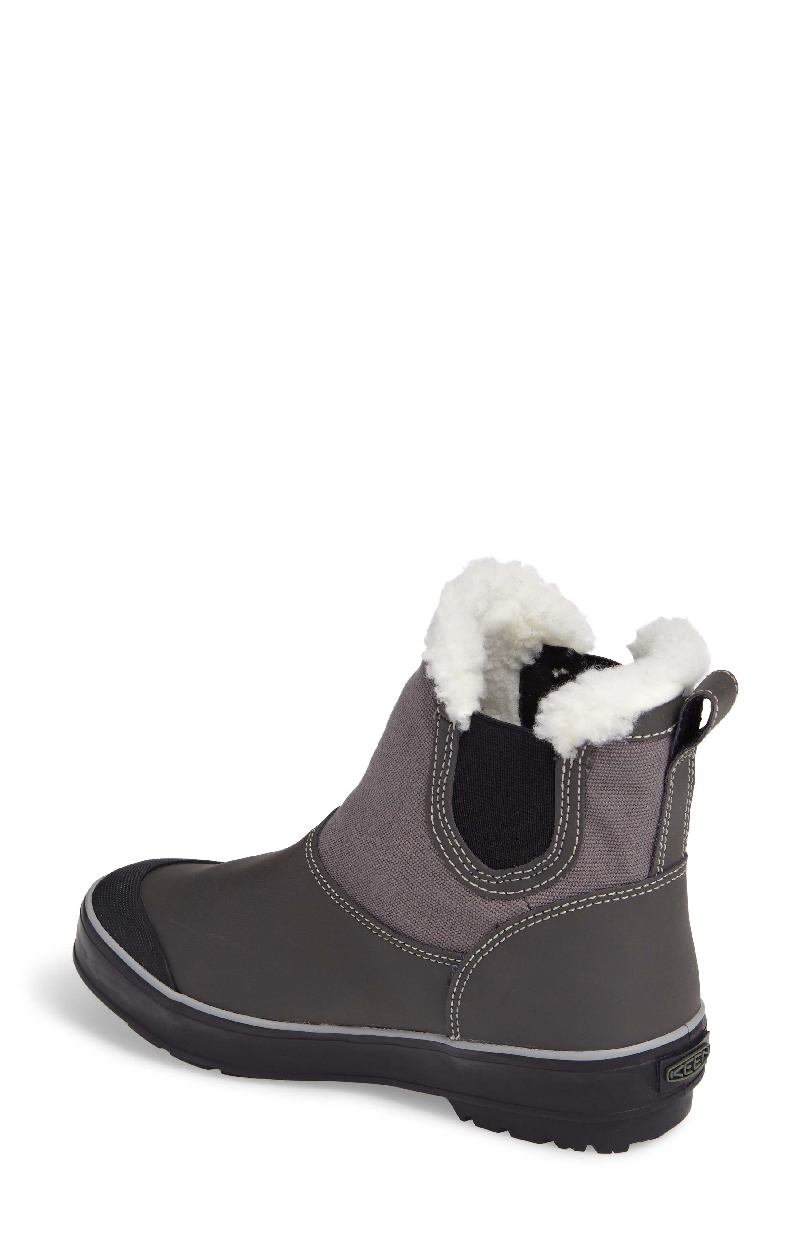 Elsa Chelsea Waterproof Faux Fur Lined Boot,                             Alternate thumbnail 7, color,