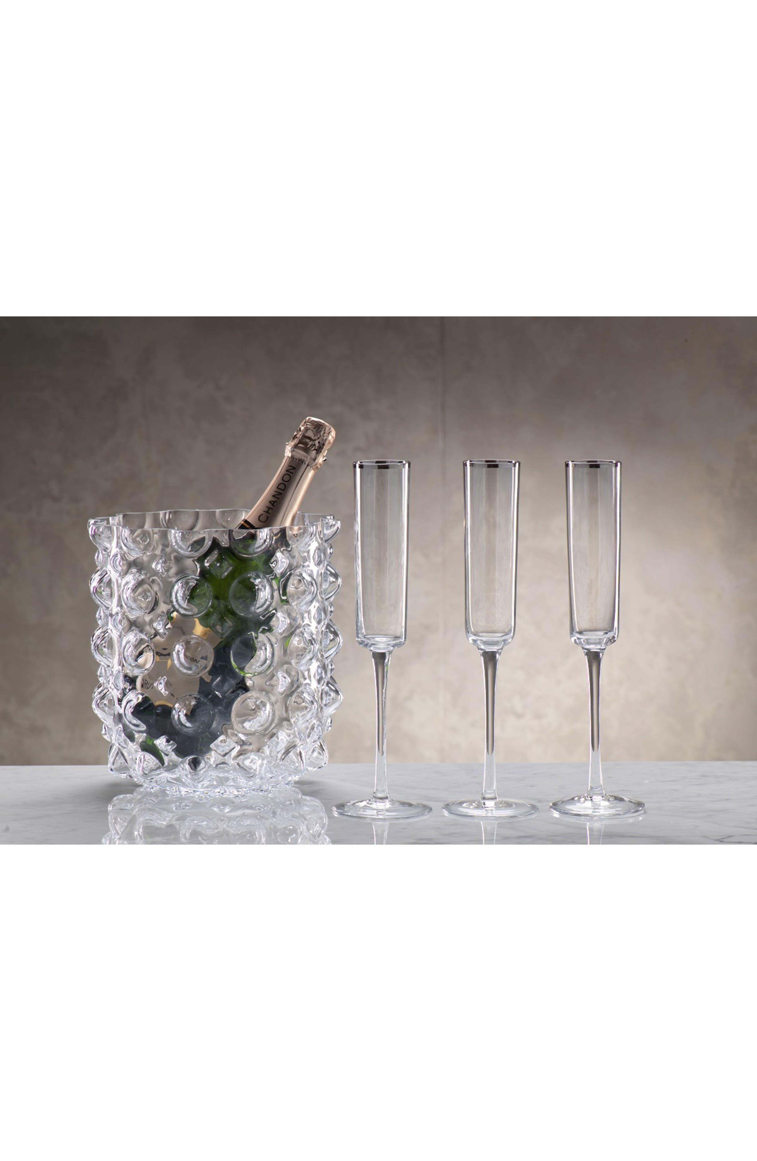 Zalli Set of 6 Champagne Flutes,                             Alternate thumbnail 2, color,                             040