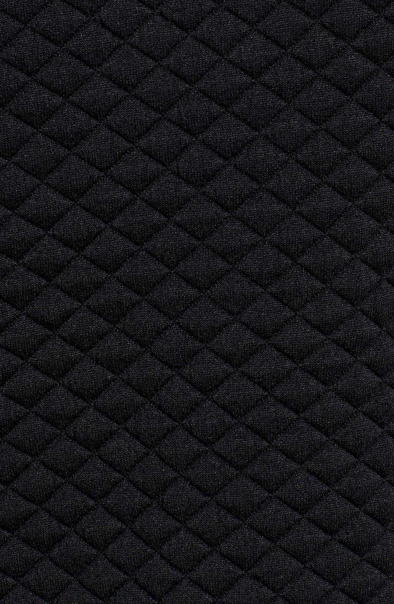 Heat Loft Zip Hoodie,                             Alternate thumbnail 5, color,                             BLACK