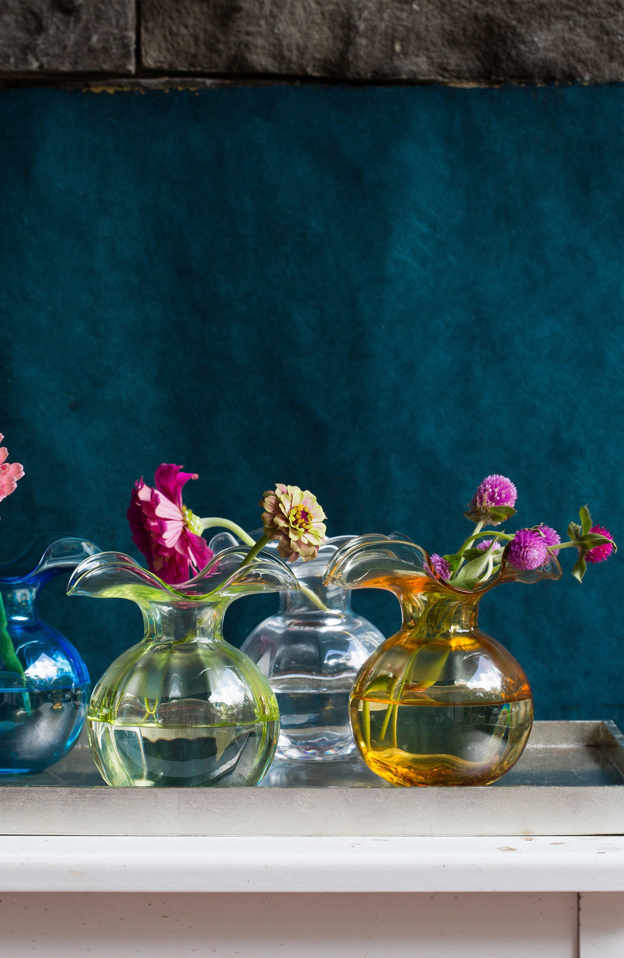 Hibiscus Bud Vase,                             Alternate thumbnail 2, color,                             WHITE