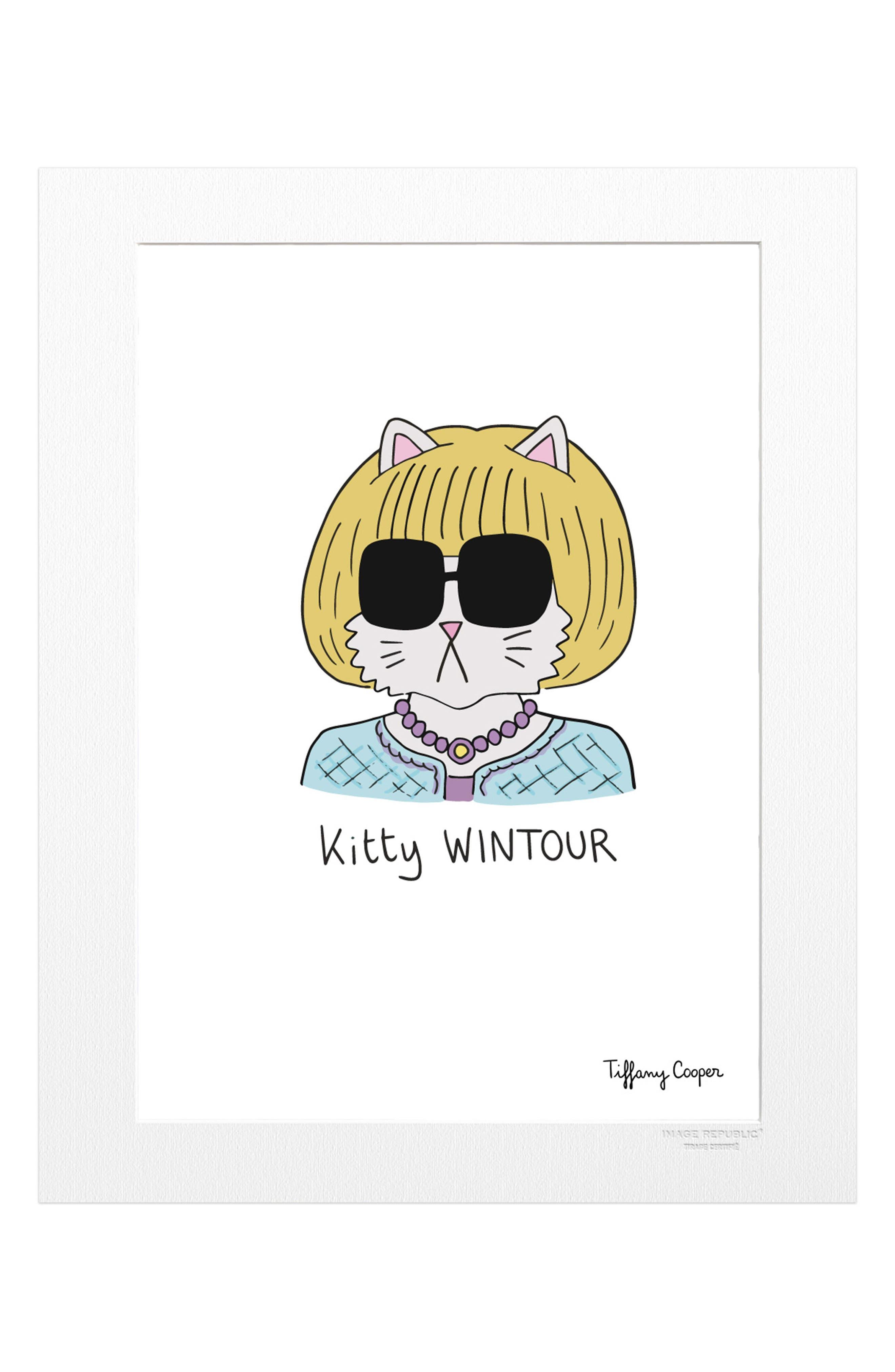 Tiffany Kitty Wintour Print,                             Main thumbnail 1, color,                             100