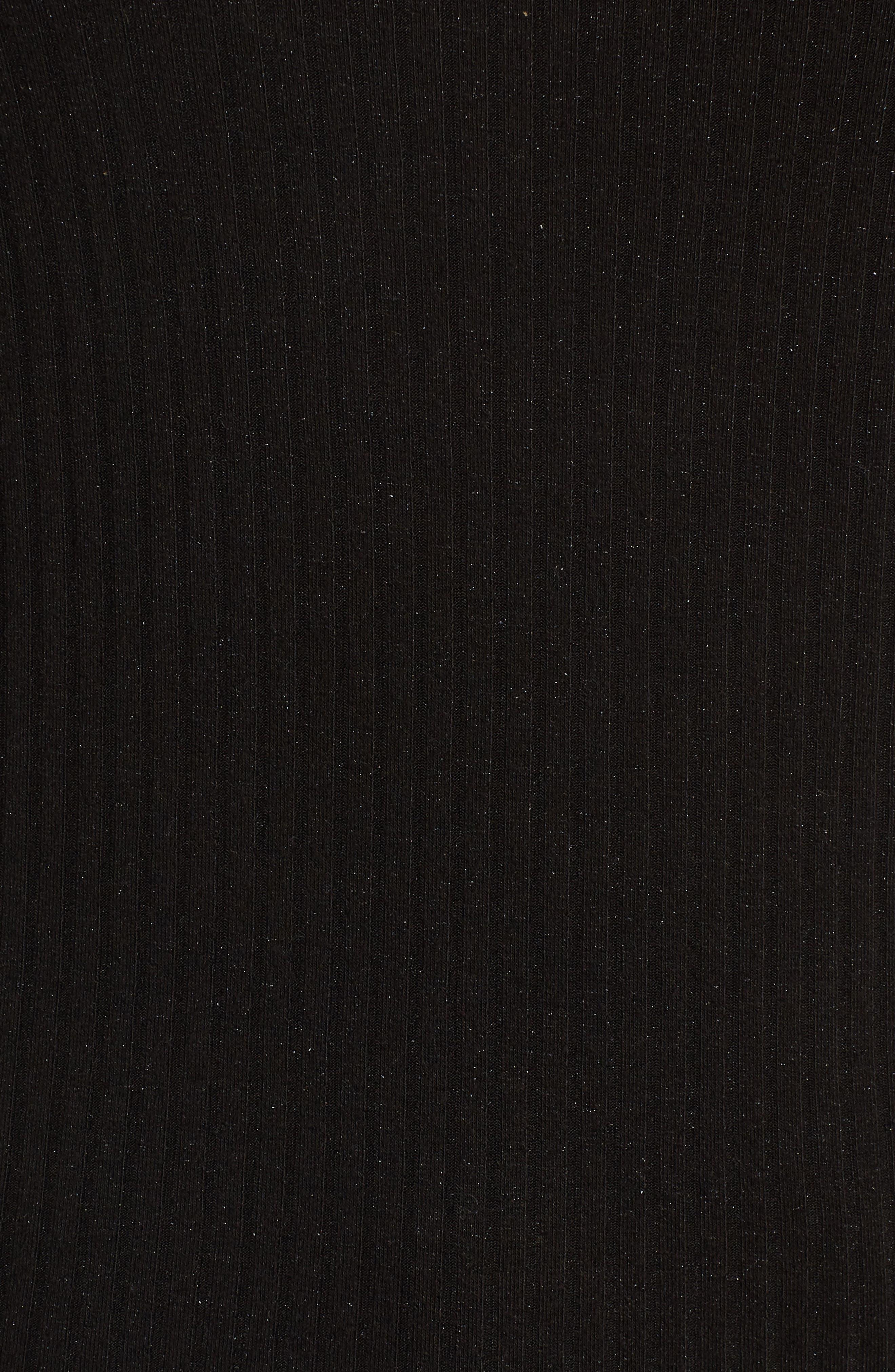 Rib Knit Tie Back Tank,                             Alternate thumbnail 5, color,                             001