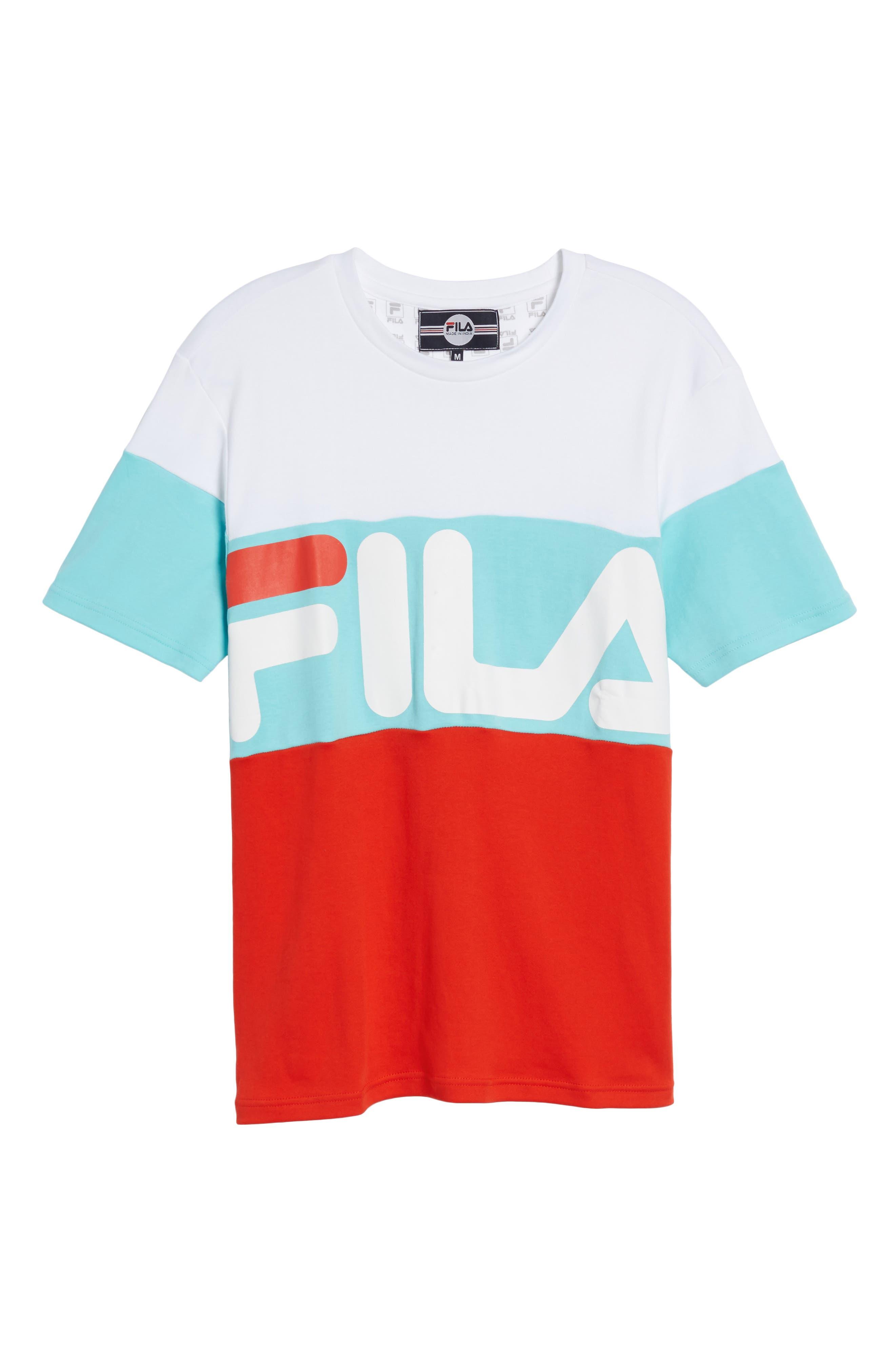 Vialli Colorblock Logo T-Shirt,                             Alternate thumbnail 6, color,                             400