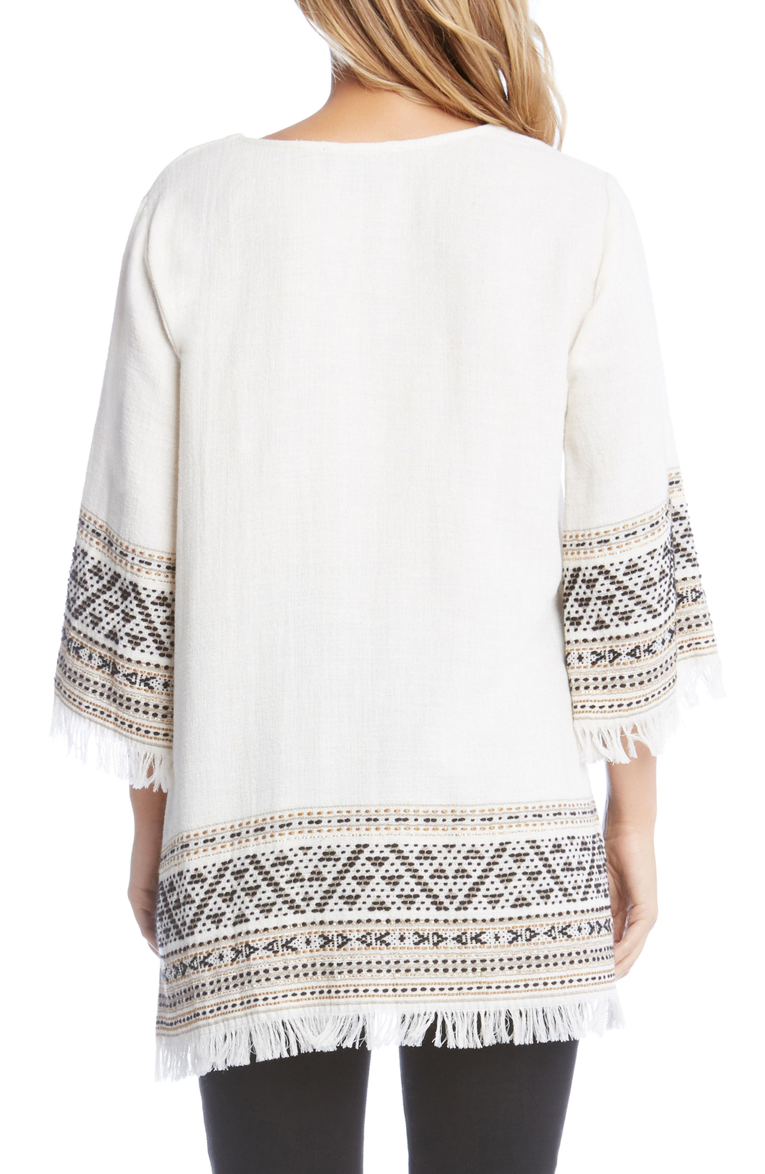 Embroidered Fringe Trim Tunic,                             Alternate thumbnail 2, color,                             901