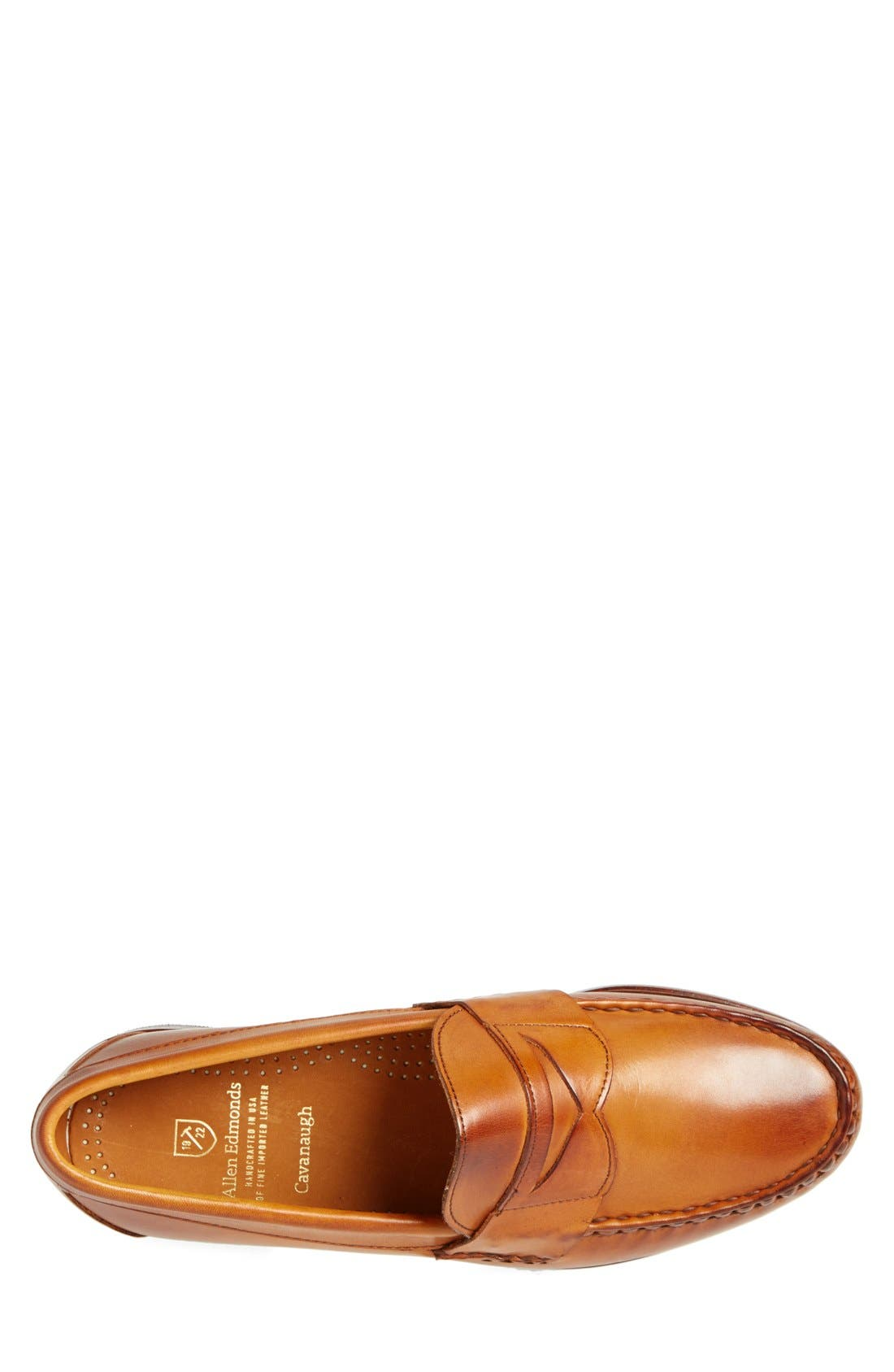 'Cavanaugh' Penny Loafer,                             Alternate thumbnail 3, color,                             WALNUT LEATHER