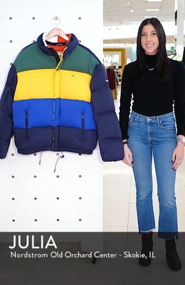 Colorblock Down Jacket, sales video thumbnail