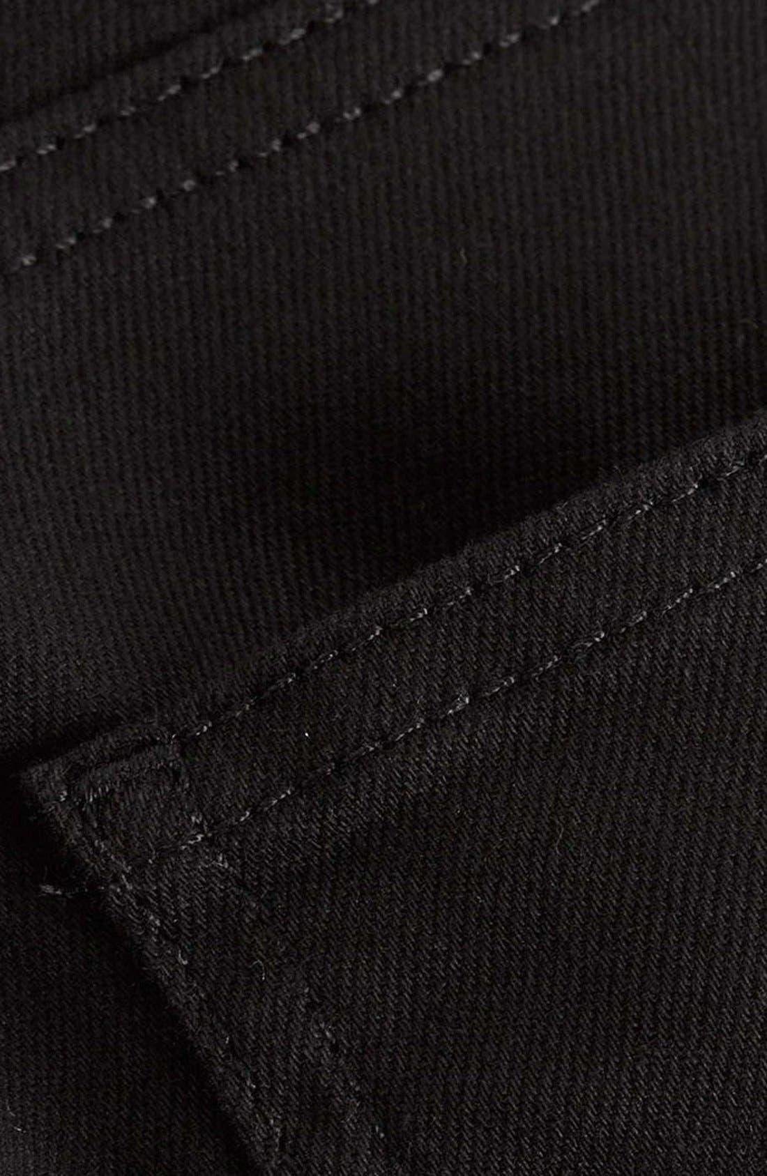 Skinny Stretch Jeans,                             Alternate thumbnail 8, color,                             BLACK