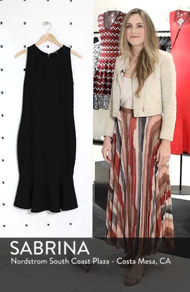 Monrow Flutter Hem Midi Dress, sales video thumbnail