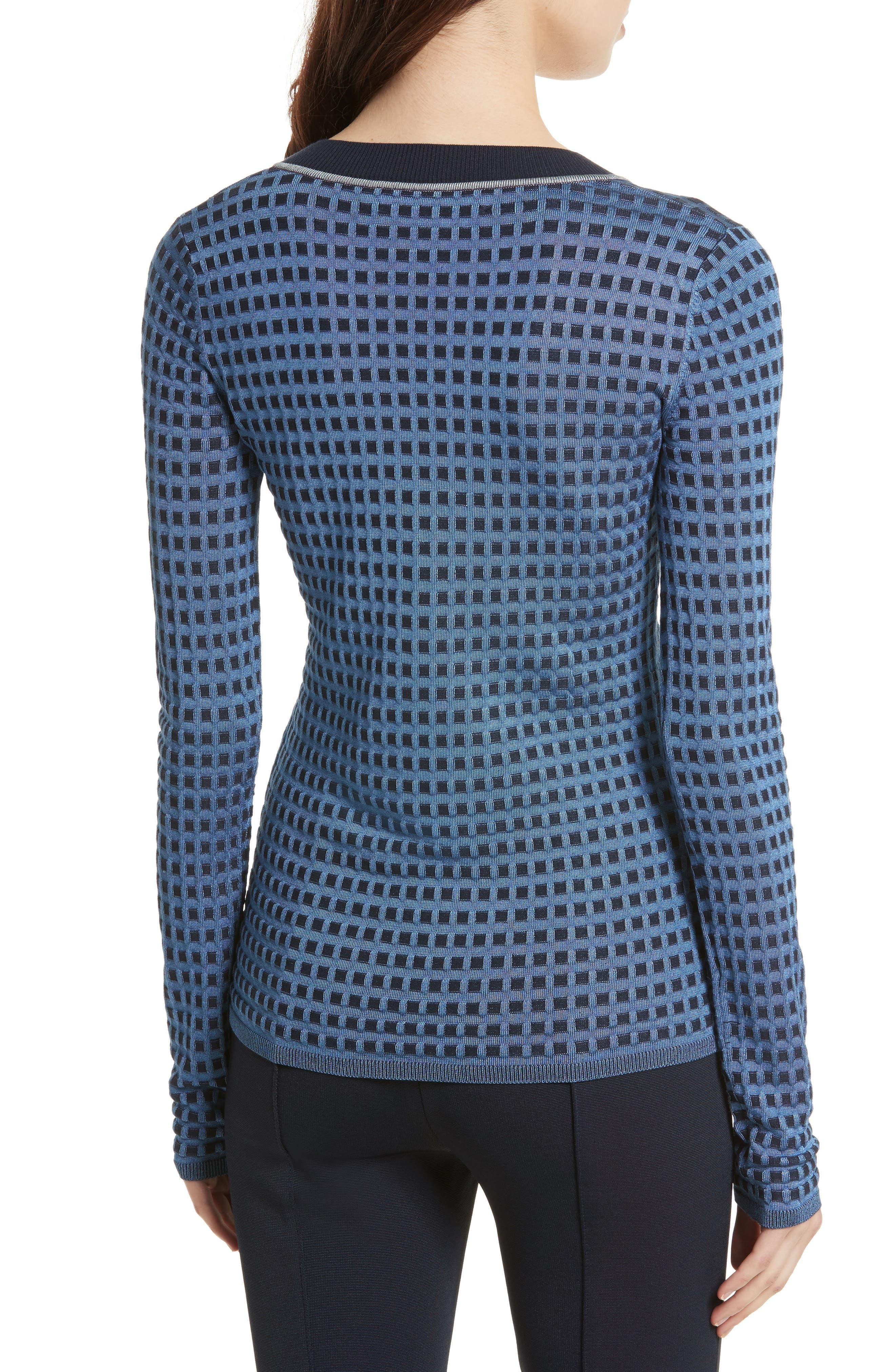 Banded V-Neck Sweater,                             Alternate thumbnail 2, color,                             409