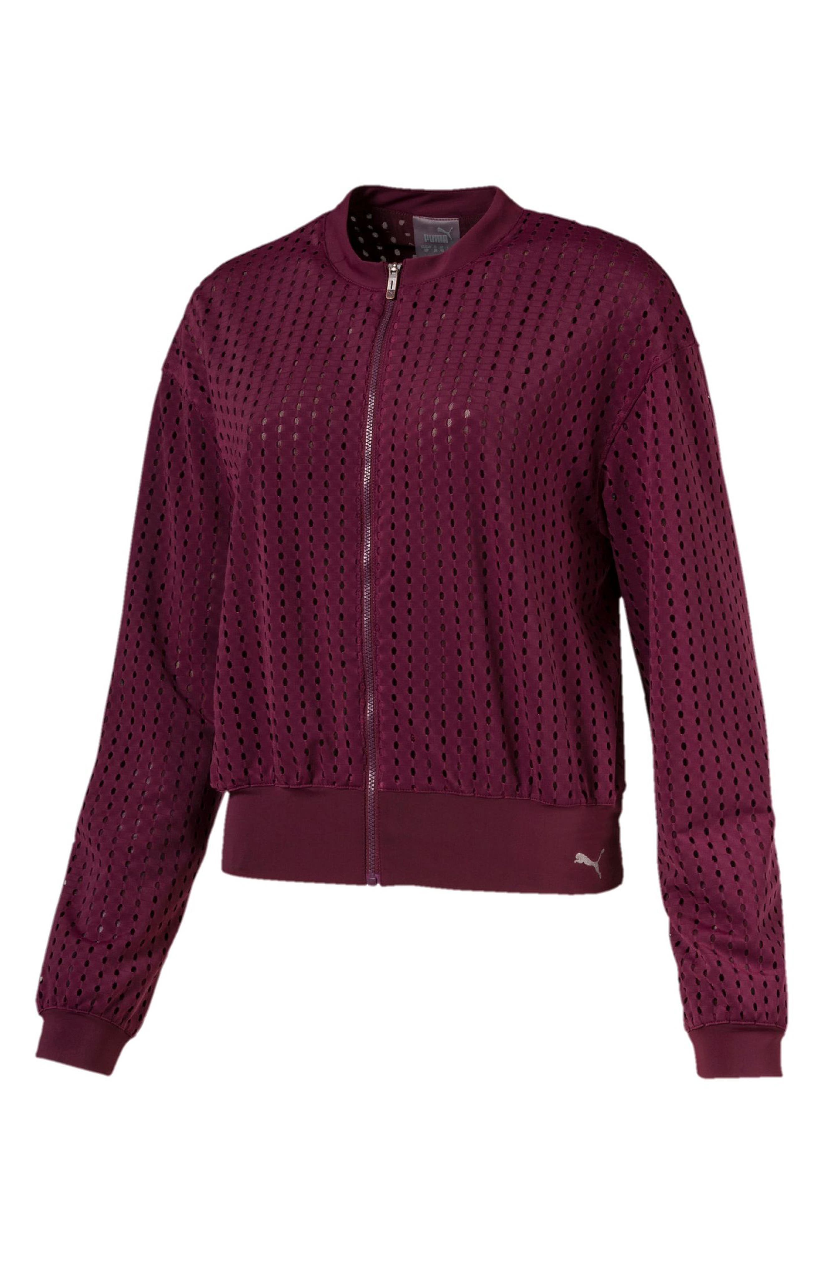 Puma Luxe Jacket, Burgundy