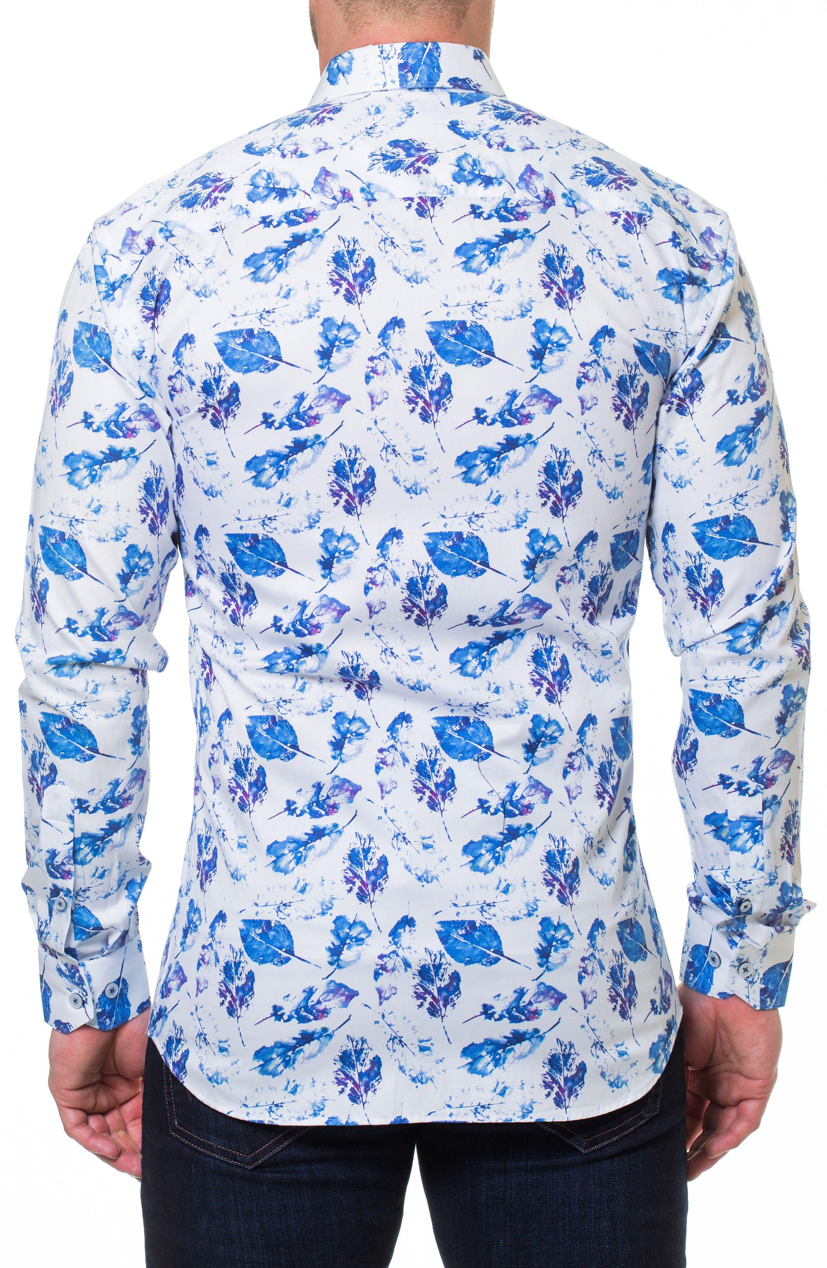 Luxor Peaceful Slim Fit Sport Shirt,                             Alternate thumbnail 2, color,                             WHITE