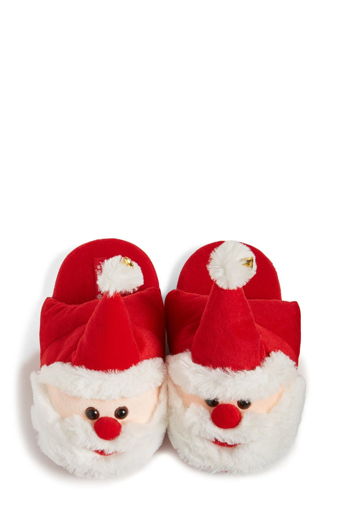UGLY CHRISTMAS SLIPPERS,                             Santa Scuff Slippers,                             Alternate thumbnail 2, color,                             600