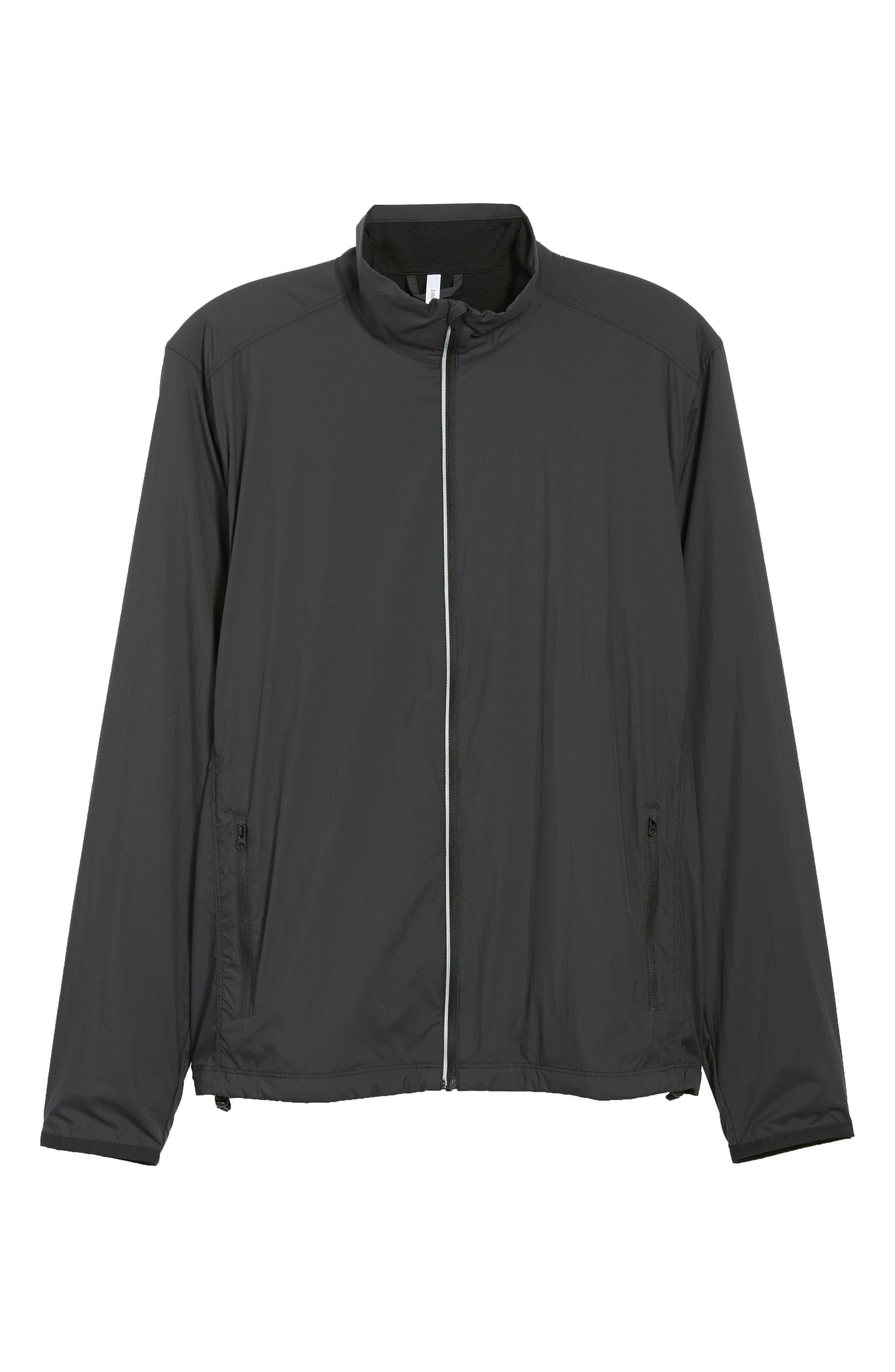 Cool-Lite<sup>™</sup> Incline Windbreaker Jacket,                             Alternate thumbnail 6, color,                             BLACK