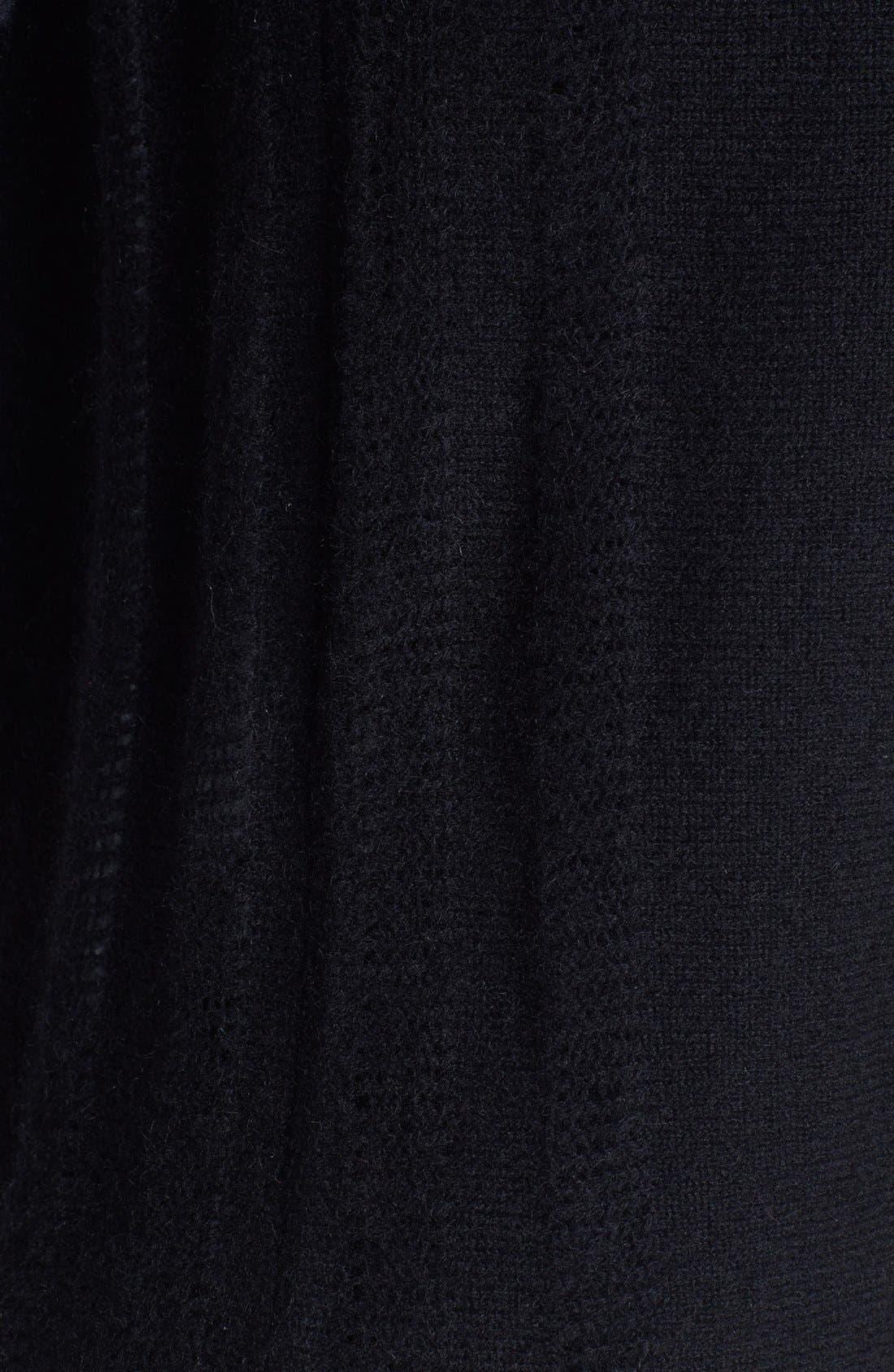 V-Neck Cashmere Sweater,                             Alternate thumbnail 3, color,                             001