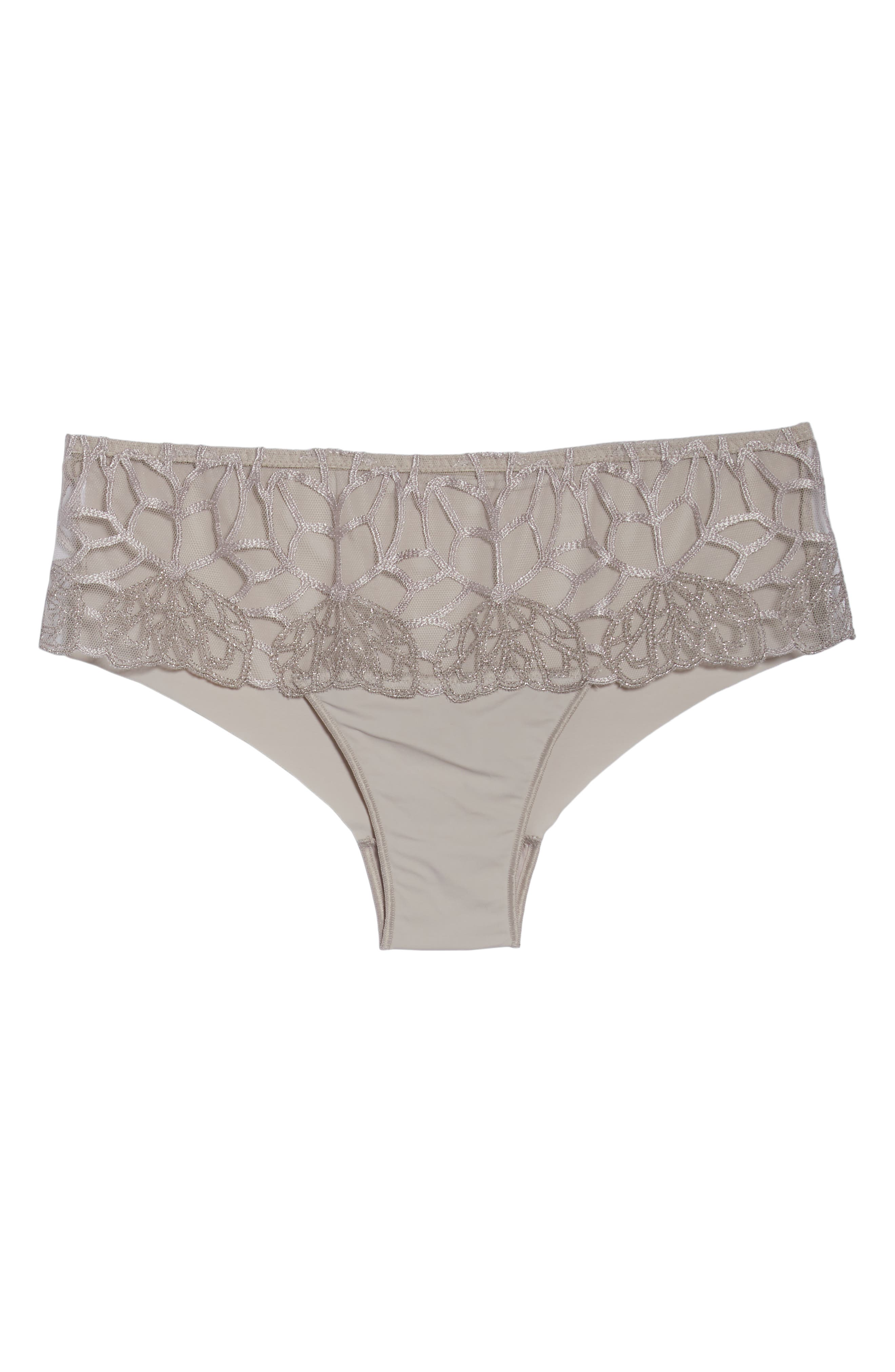 SIMONE PERELE,                             Java Hipster Panties,                             Alternate thumbnail 6, color,                             LINEN