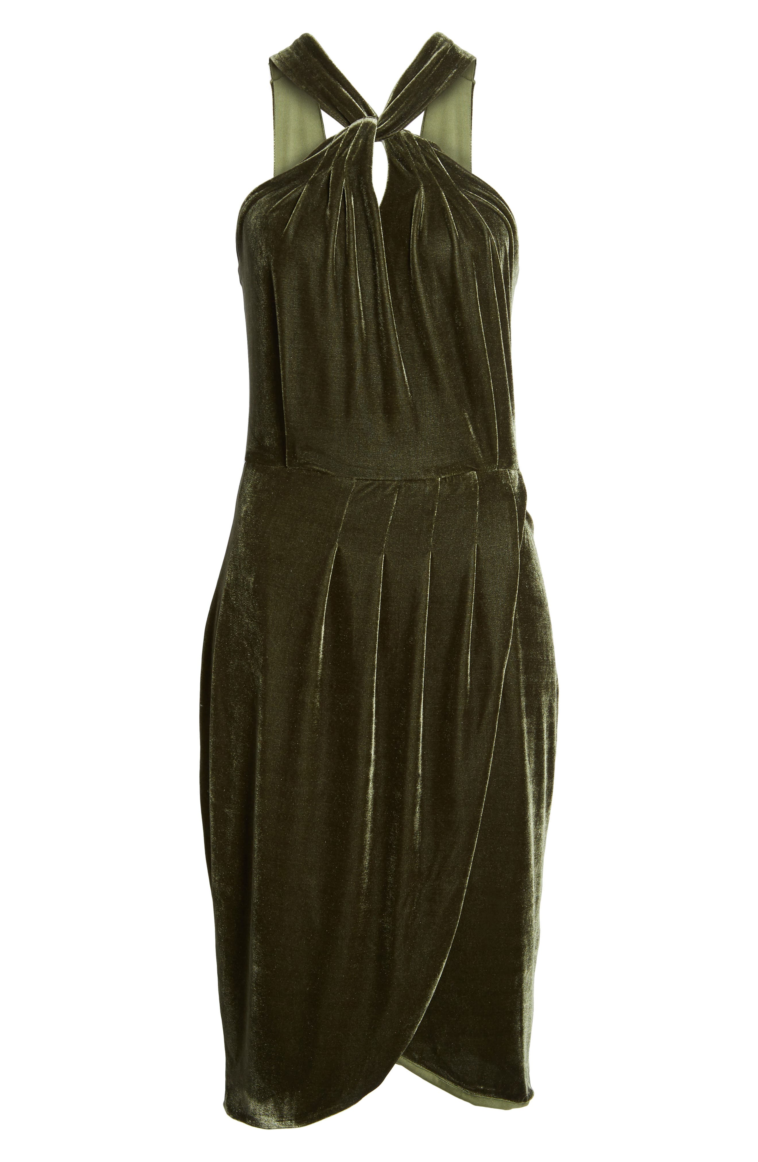 Wales Velvet Halter Dress,                             Alternate thumbnail 6, color,                             360