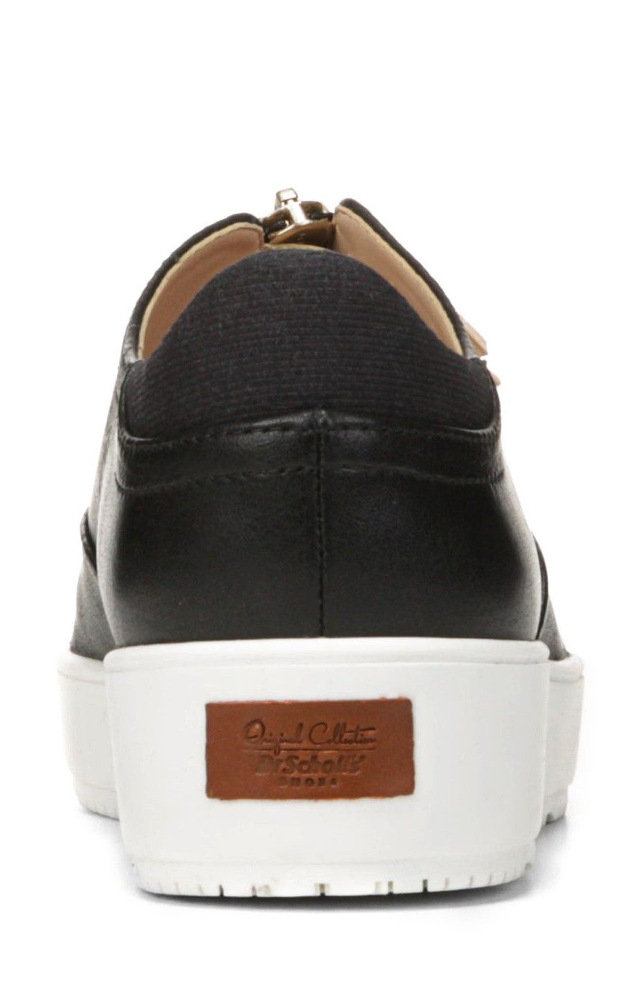 Blakely Tassel Zip Sneaker,                             Alternate thumbnail 8, color,                             001