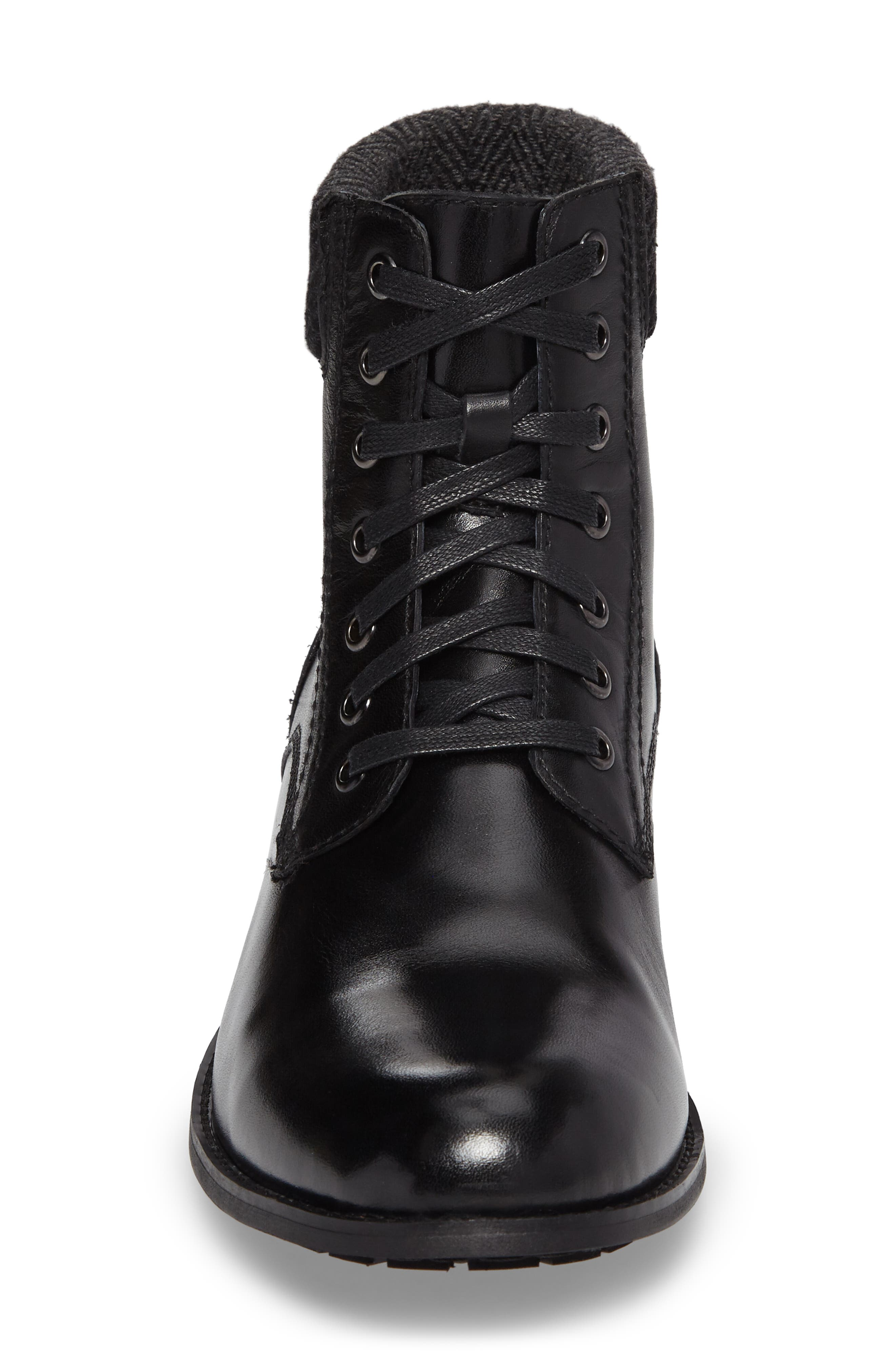 Saar Plain Toe Boot,                             Alternate thumbnail 4, color,                             001