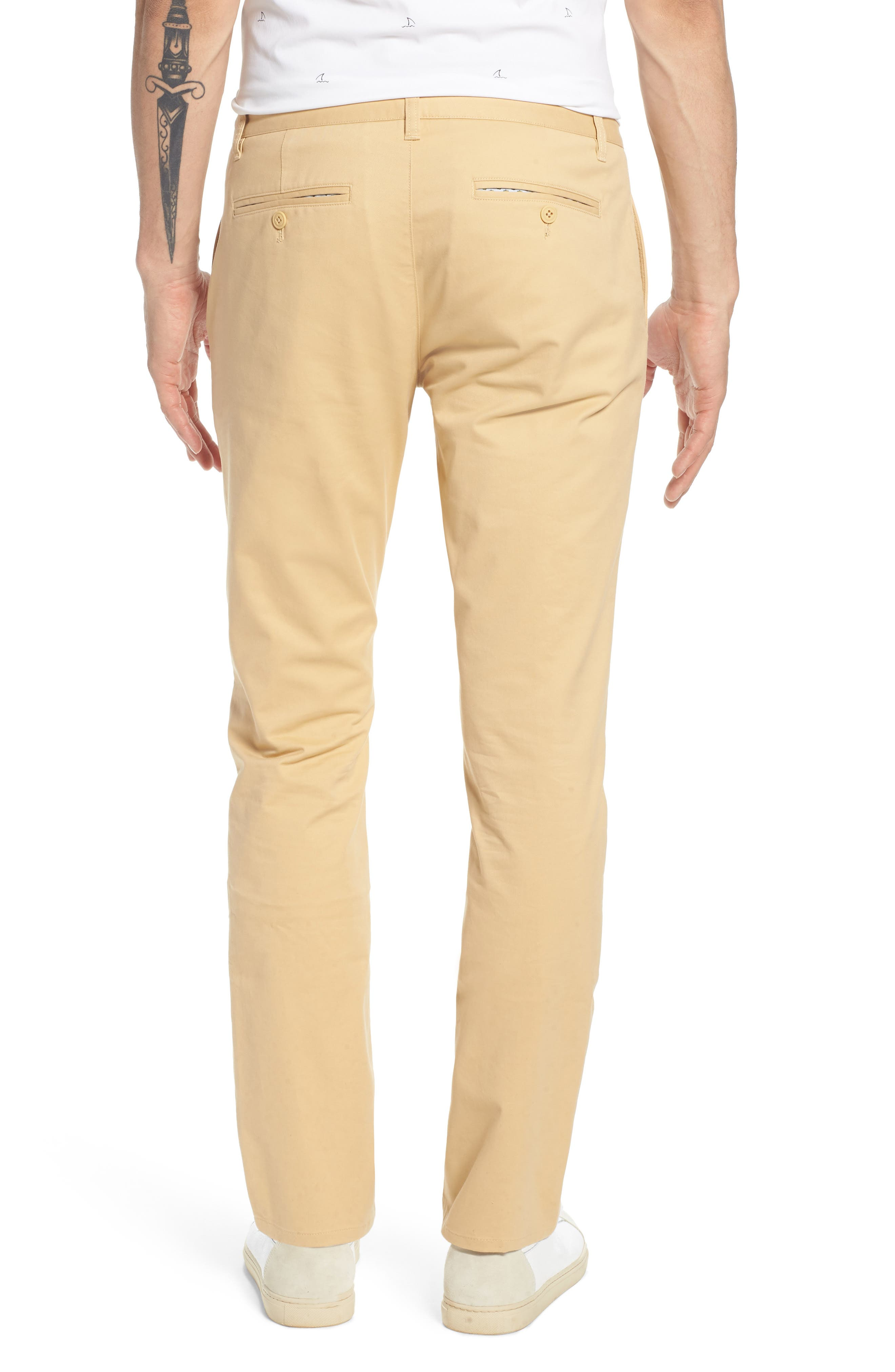 Tailored Fit Washed Stretch Cotton Chinos,                             Alternate thumbnail 41, color,