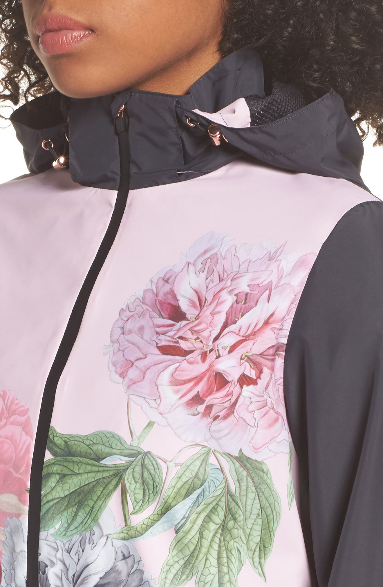 Palace Gardens Print Hooded Jacket,                             Alternate thumbnail 4, color,                             005