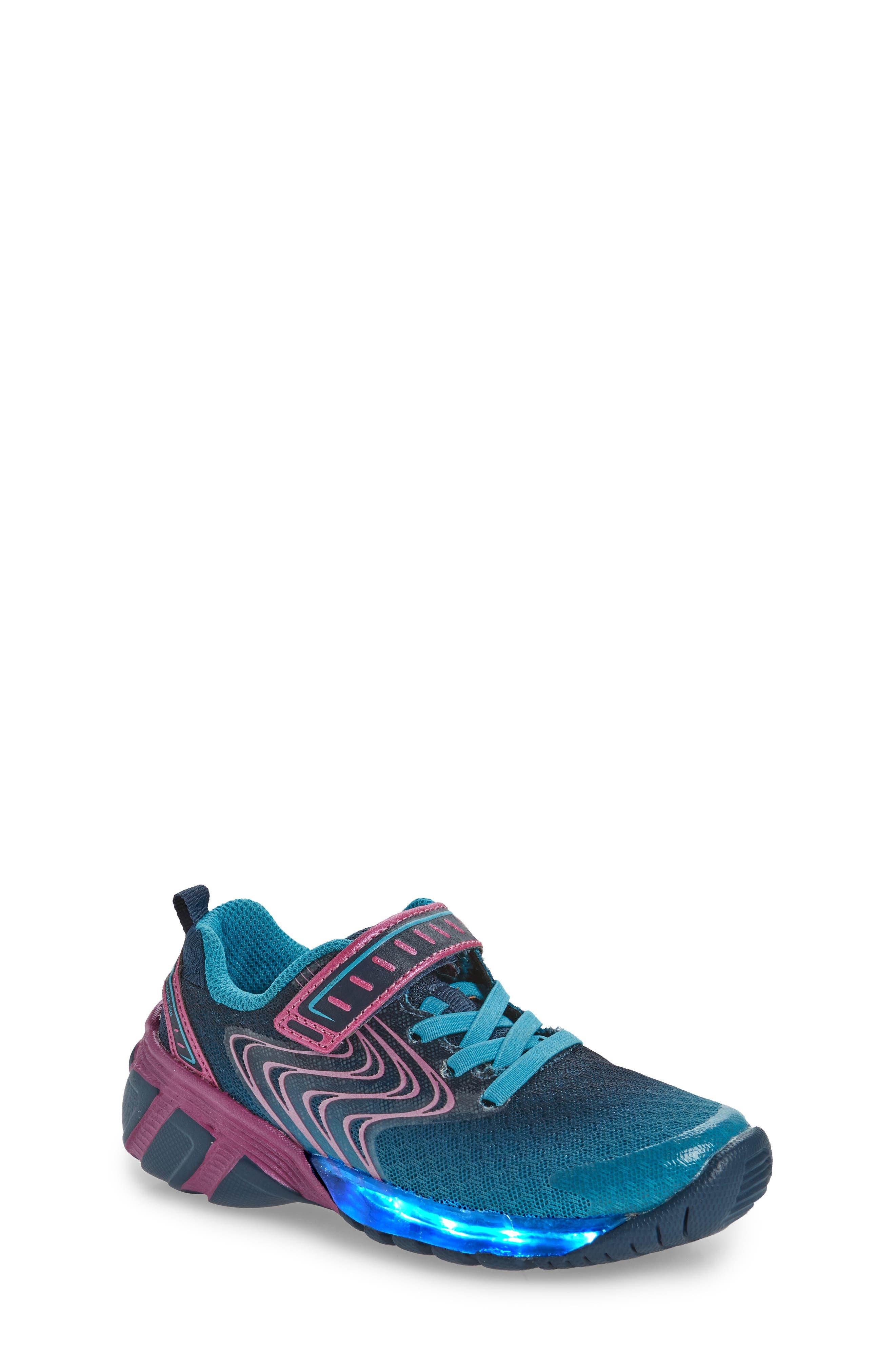 Lights Lux Light-Up Sneaker,                             Alternate thumbnail 7, color,                             400