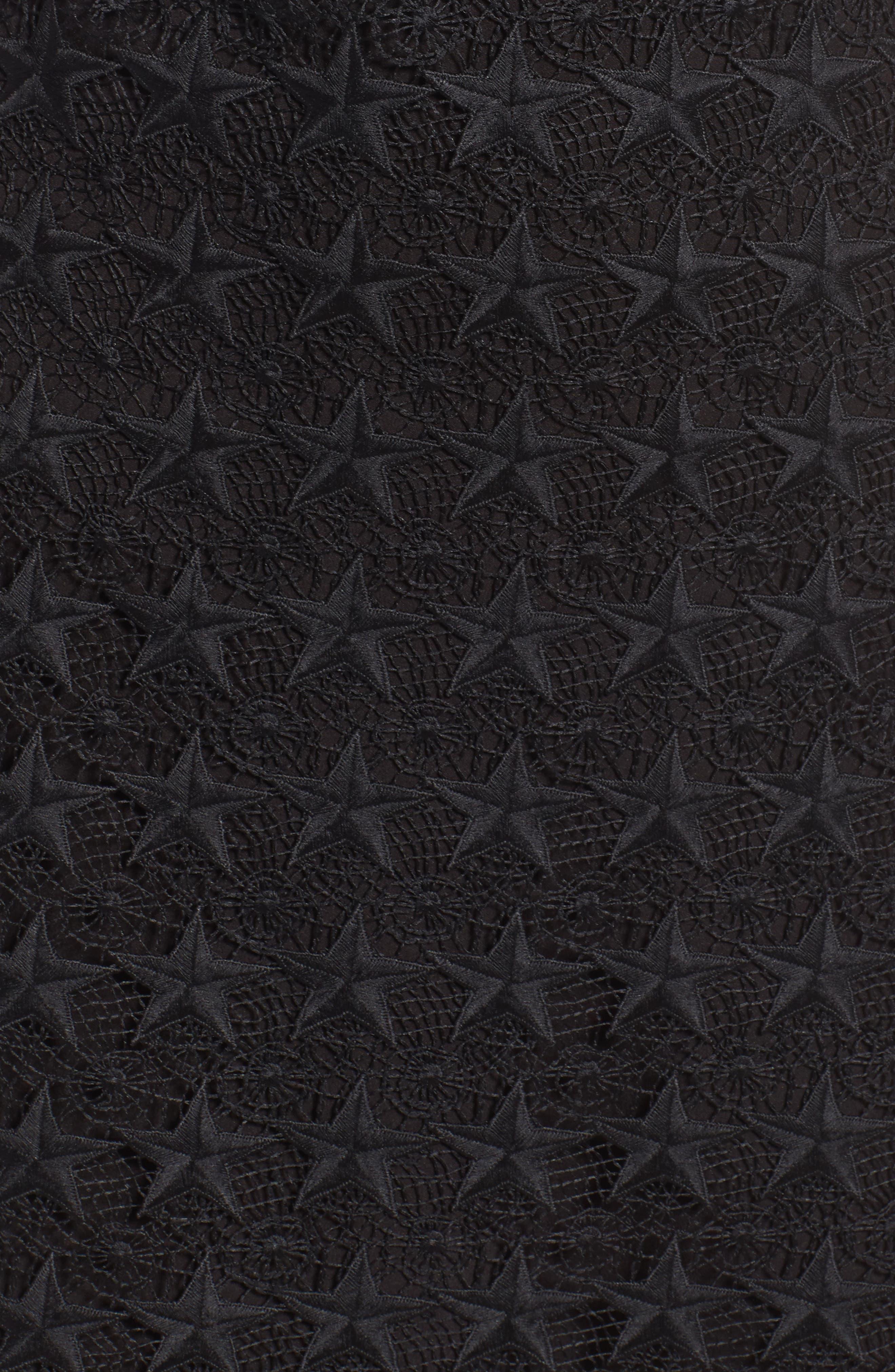 Star Lace Sheath Dress,                             Alternate thumbnail 5, color,