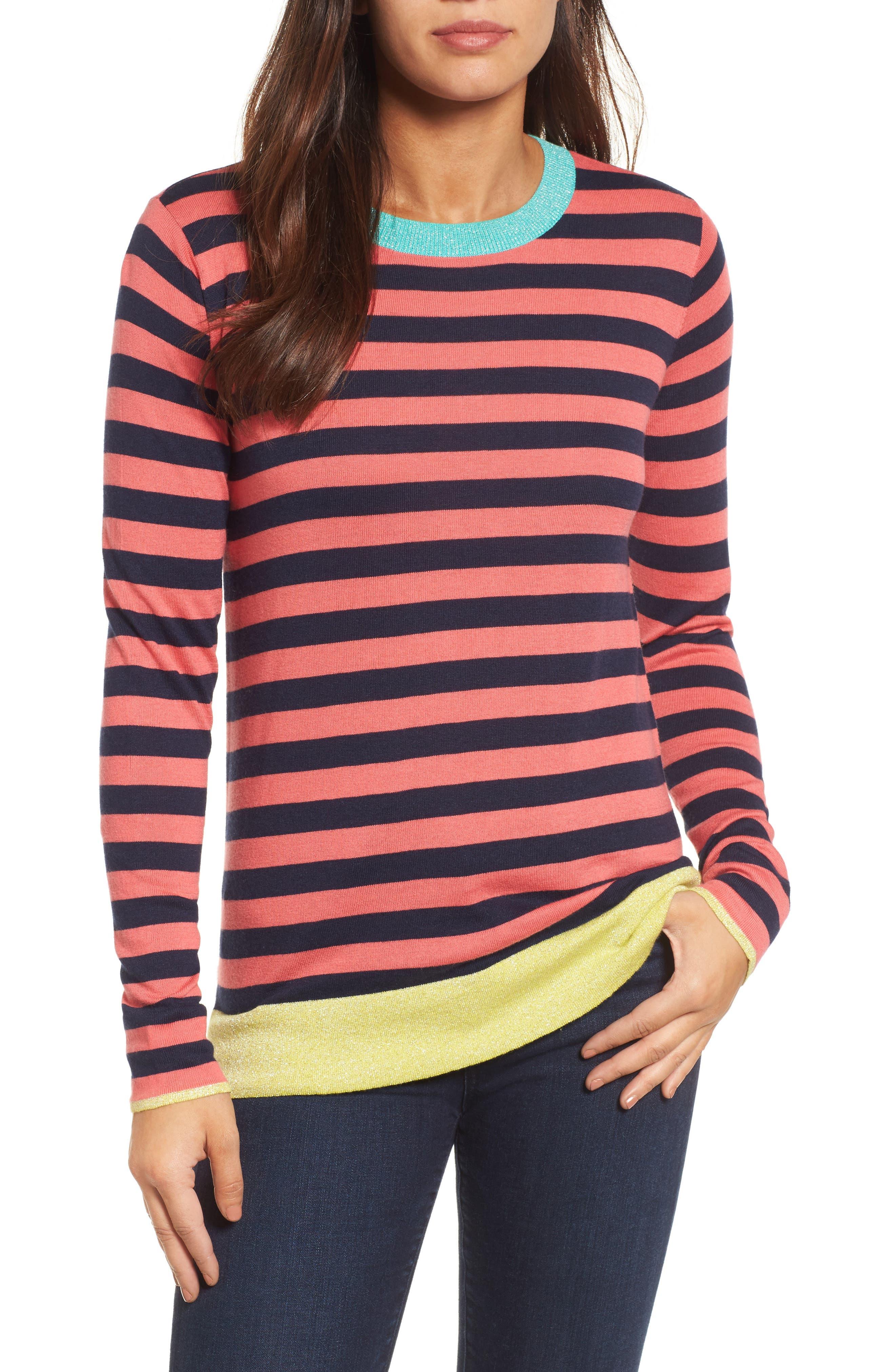 Colorblock Stripe Sweater,                             Main thumbnail 4, color,