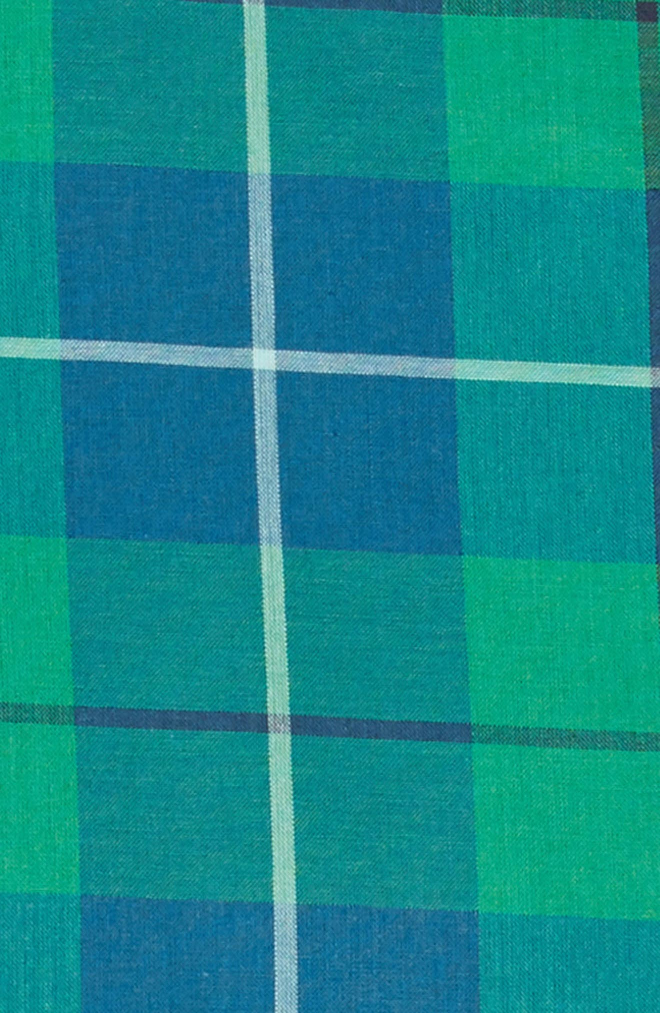 Woven Pocket Dress,                             Alternate thumbnail 3, color,                             TARTAN PLAID