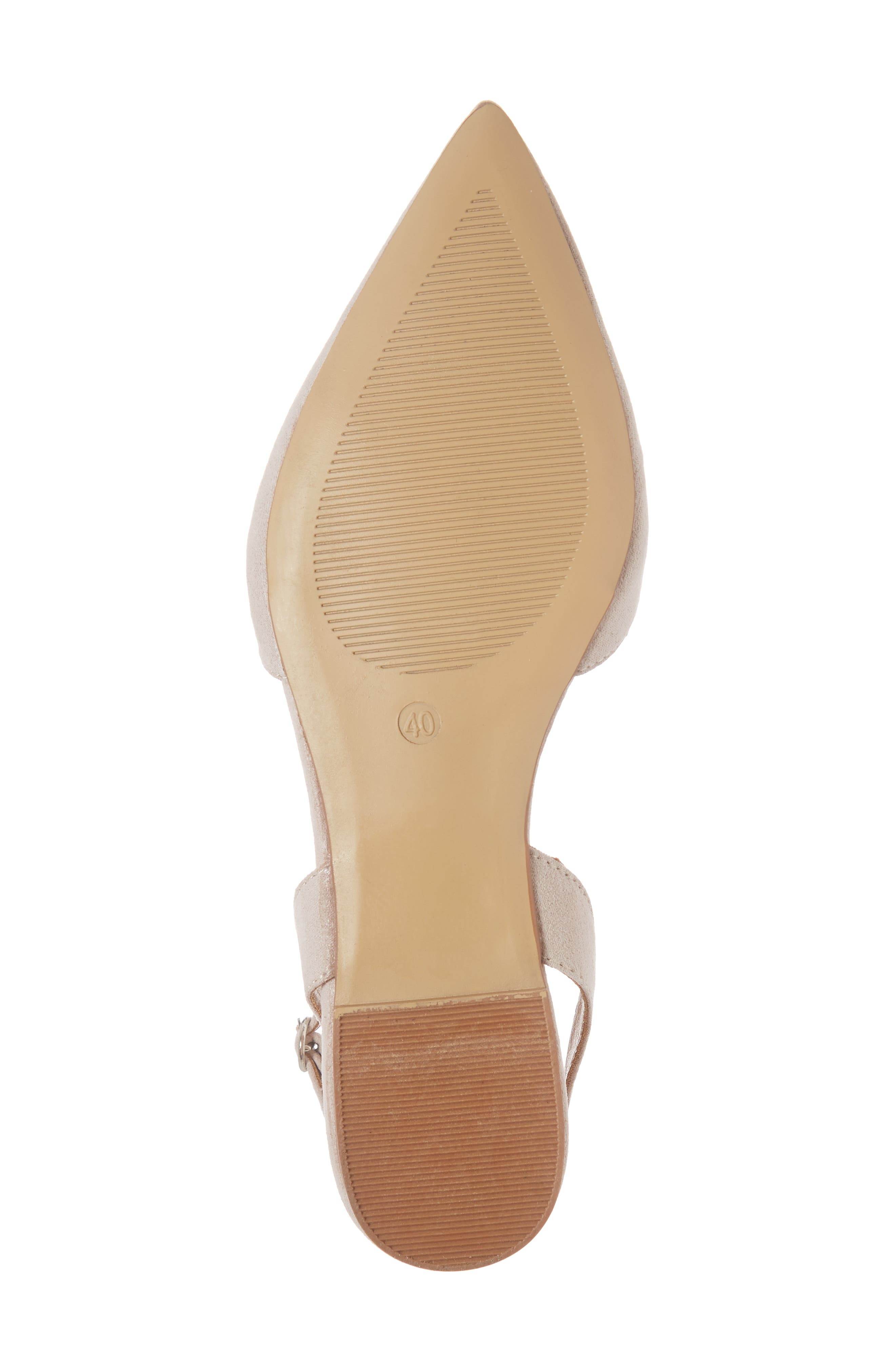 Anne Pointy Toe Flat,                             Alternate thumbnail 6, color,                             NUDE